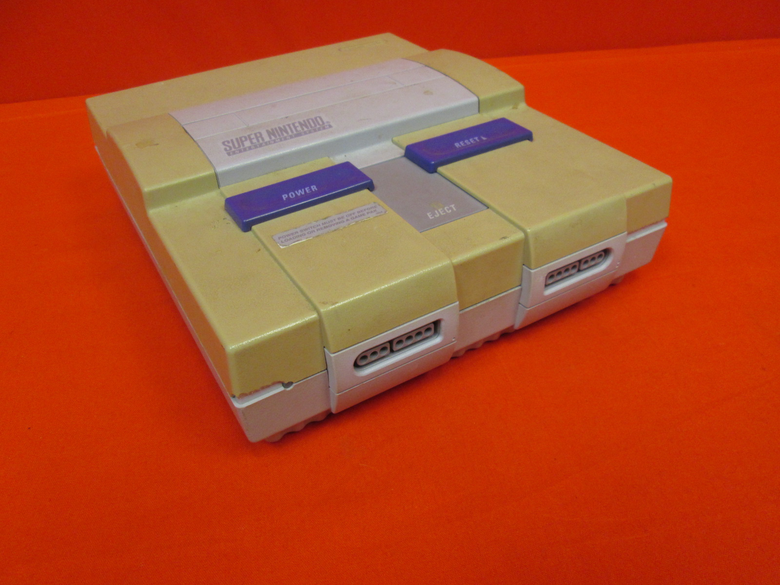 Super Nintendo SNES Video Game Console With Controller And Cables