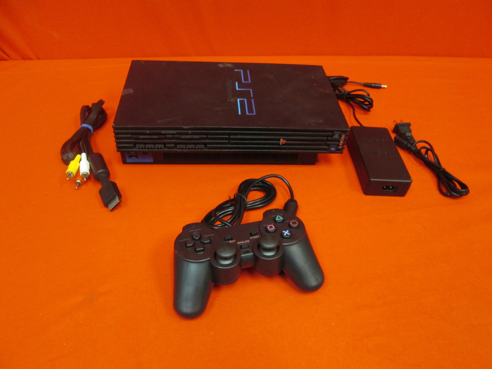 PlayStation 2 Video Game Console Black With Controller