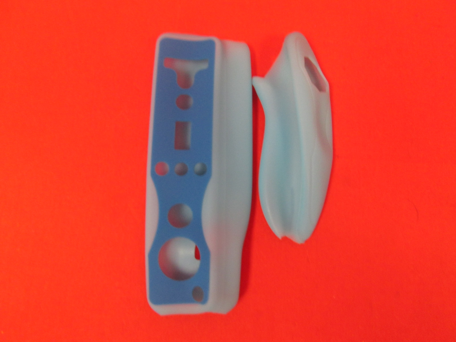 Blue Silicon Case Skin For Nintendo Wiimote And Nunchuk