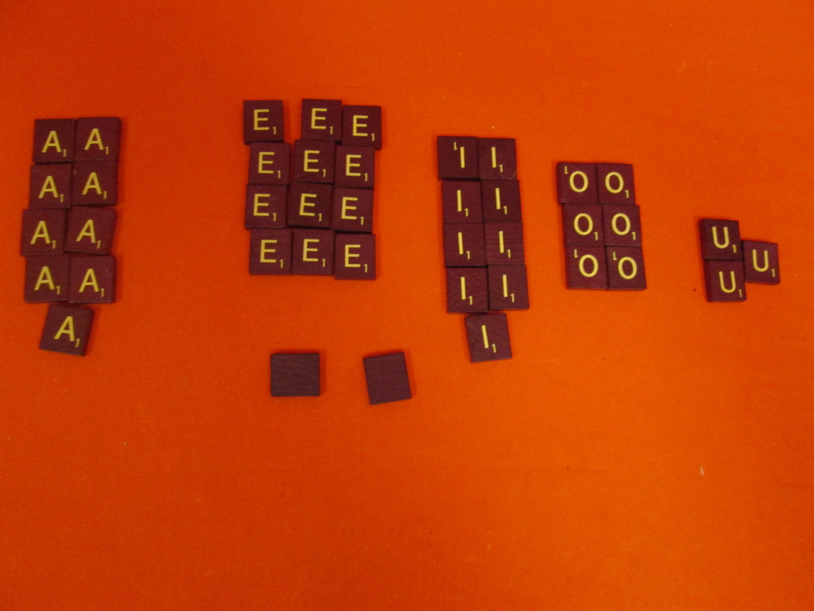 Replacement Vowel And Blank Tiles A E I O U Blank For Scrabble Deluxe