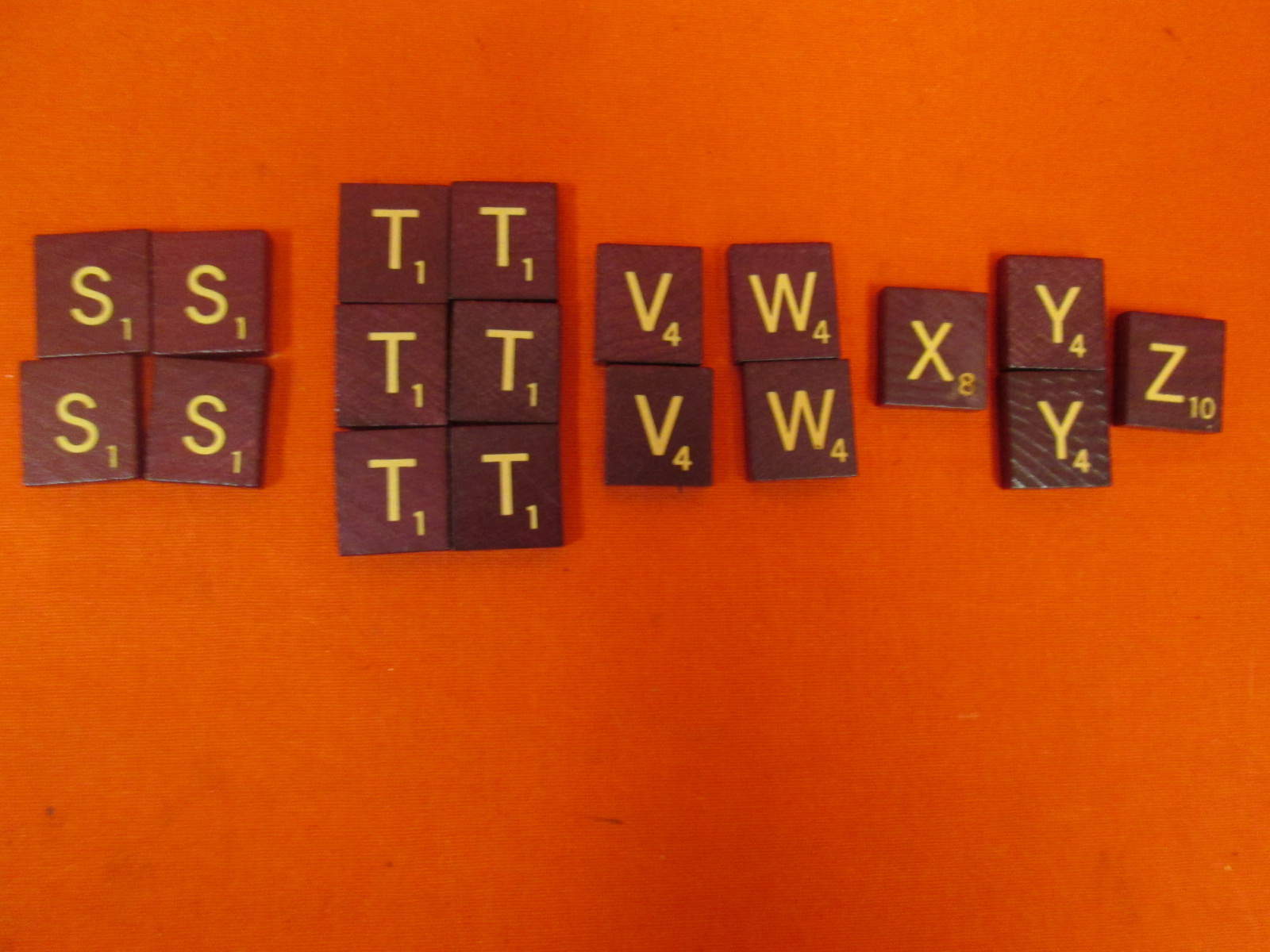 Replacement Consonant Tiles S T V W X Y Z For Scrabble Deluxe Turn