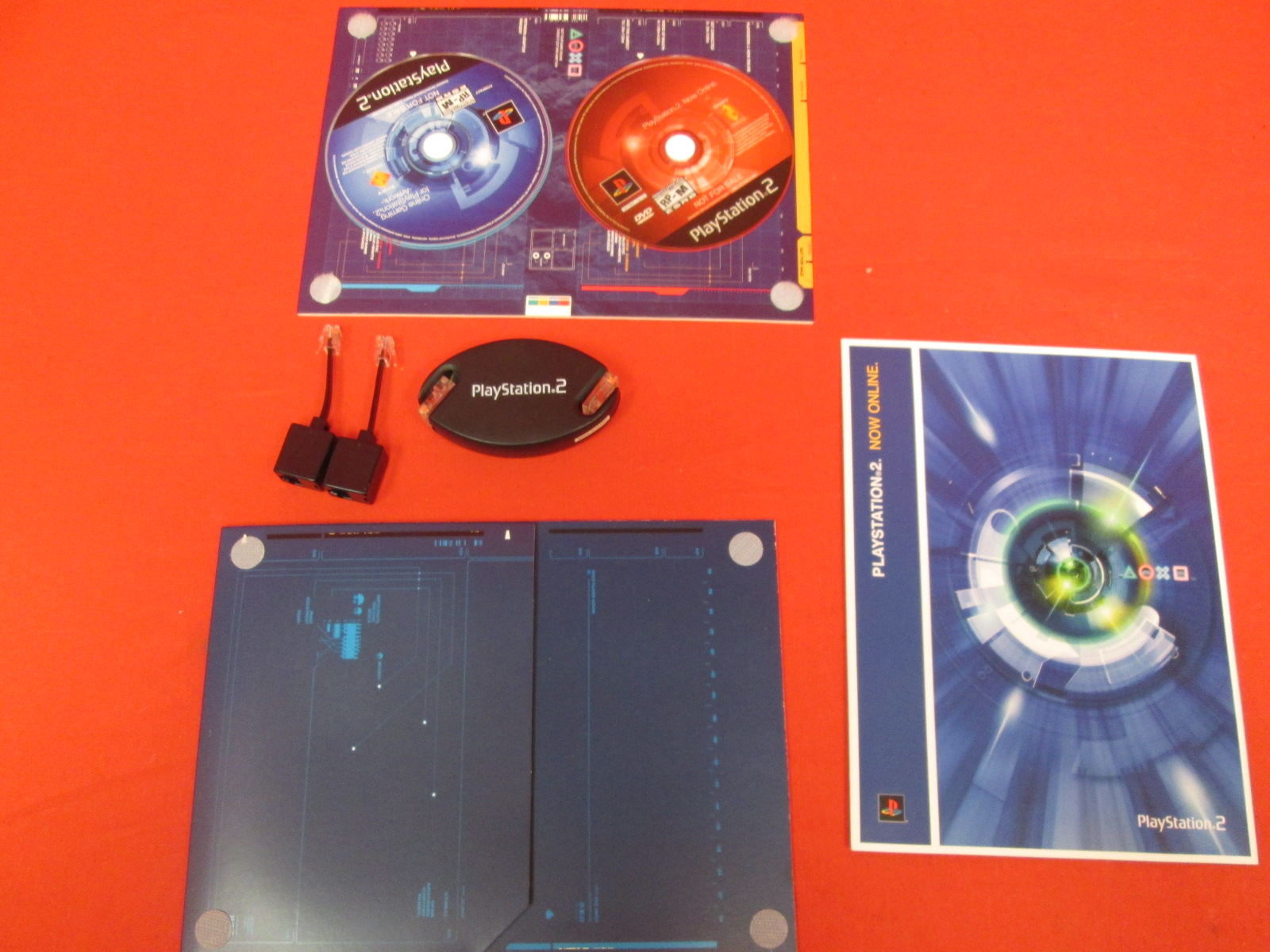 Image 0 of PlayStation 2 Now Online Ethernet Cable And Discs