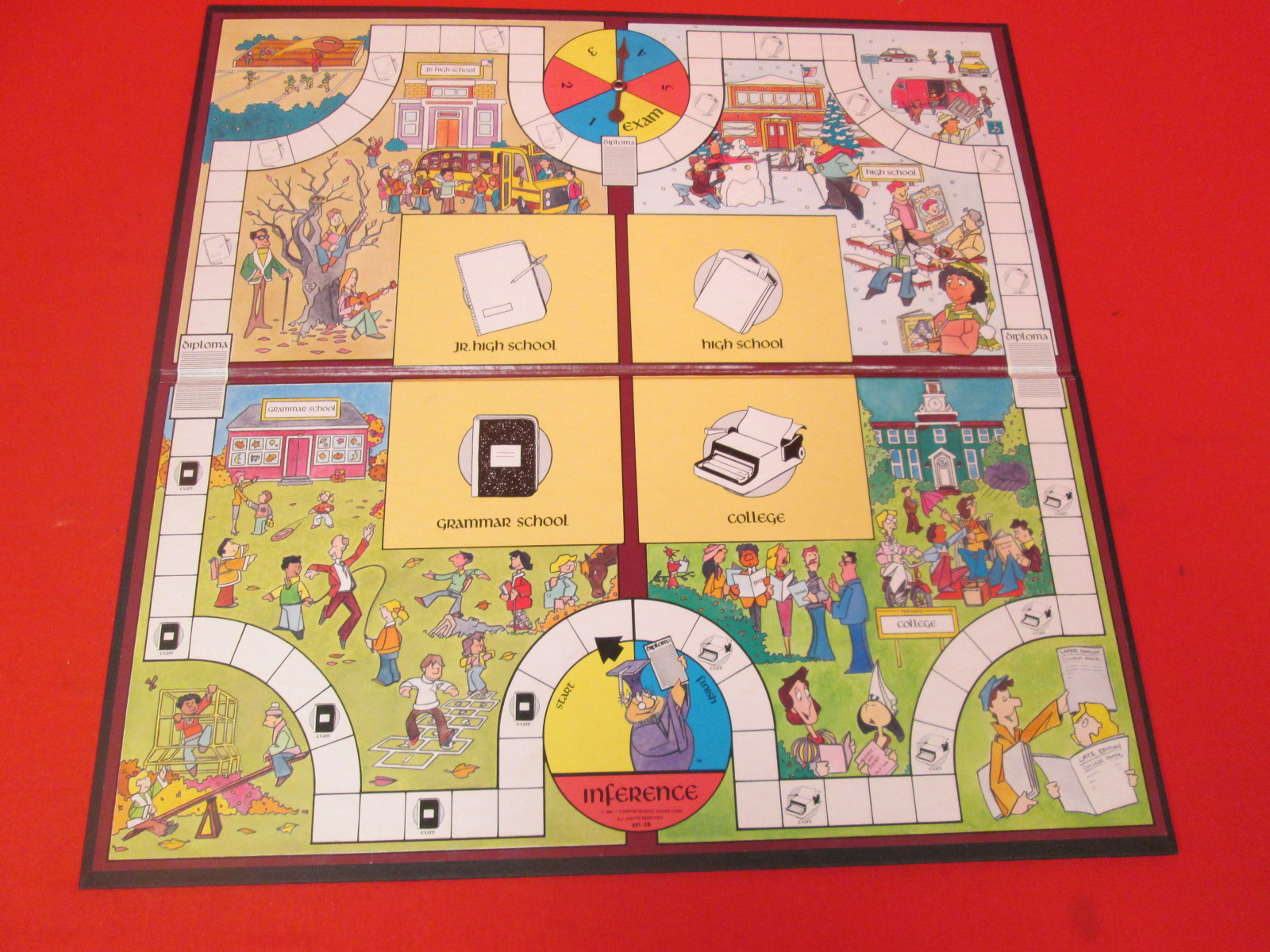 Replacement Playing Board Only For Edupress Inference Red Level Game