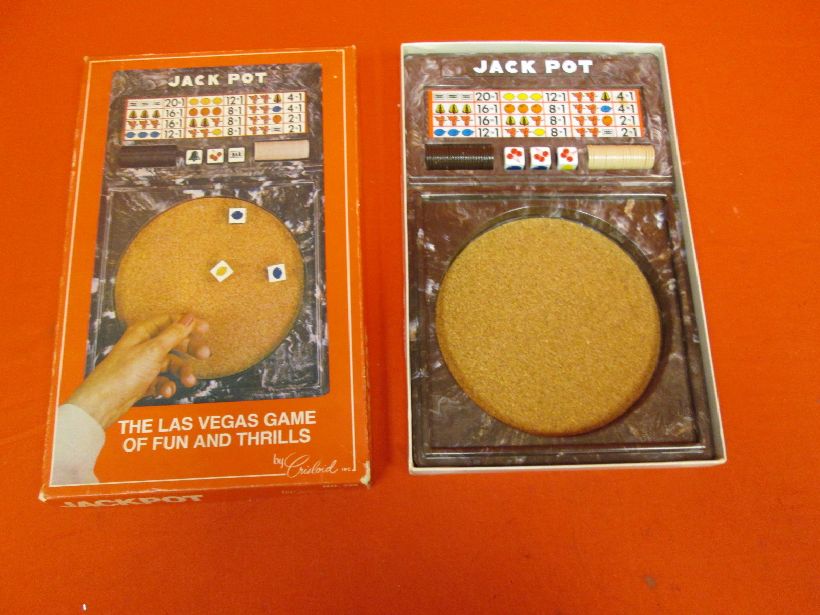 Jack Pot Board Game No 222 Crislord Inc Las Vegas Game Of Fun And