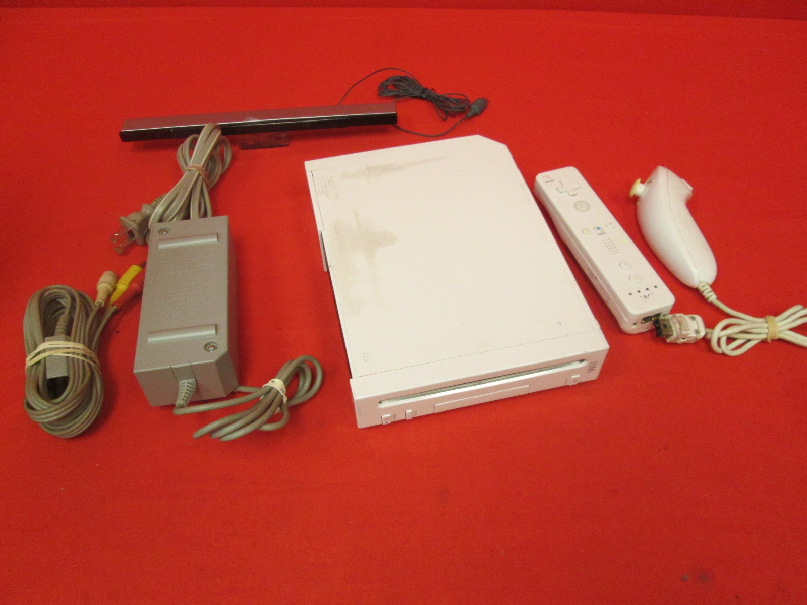 Image 0 of Nintendo Wii Video Game Console With Wiimote Nunchuk Cables