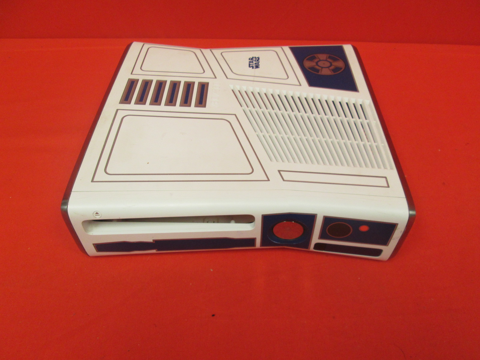 Replacement R2D2 Case Only White/Blue For Xbox 360 Video Game System