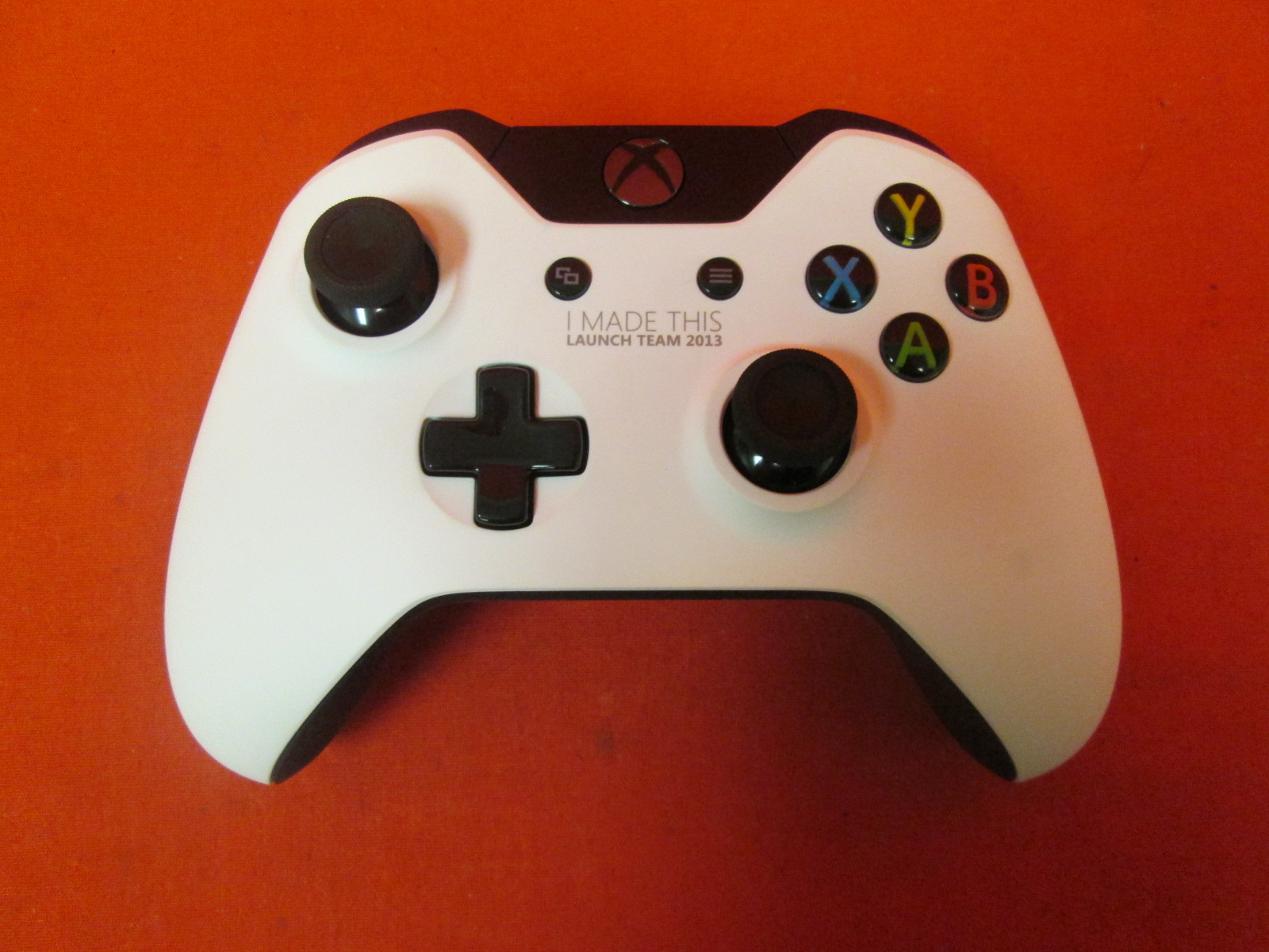 Xbox One I Made This Launch Team 2013 White Controller