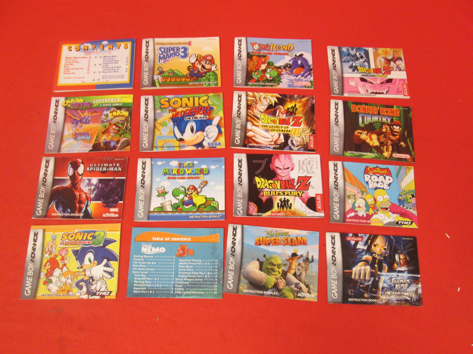Lot Of 16 Inserts For Game Boy Advance