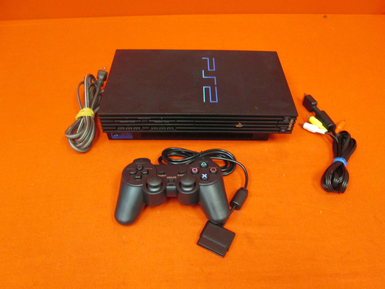 PlayStation 2 Video Game Console With Controller Black