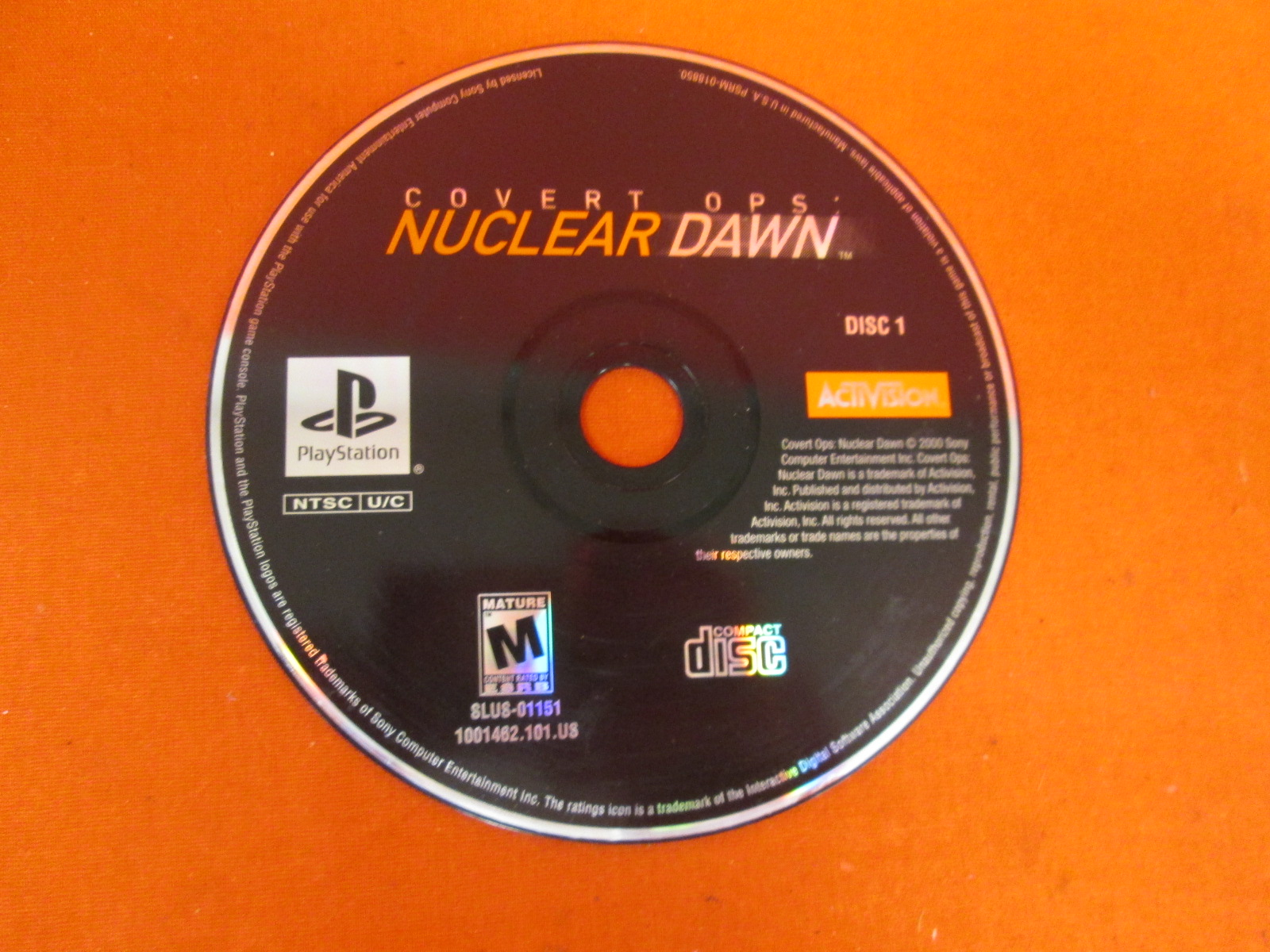 Replacement Disc 1 For Covert Ops: Nuclear Dawn For PlayStation 1