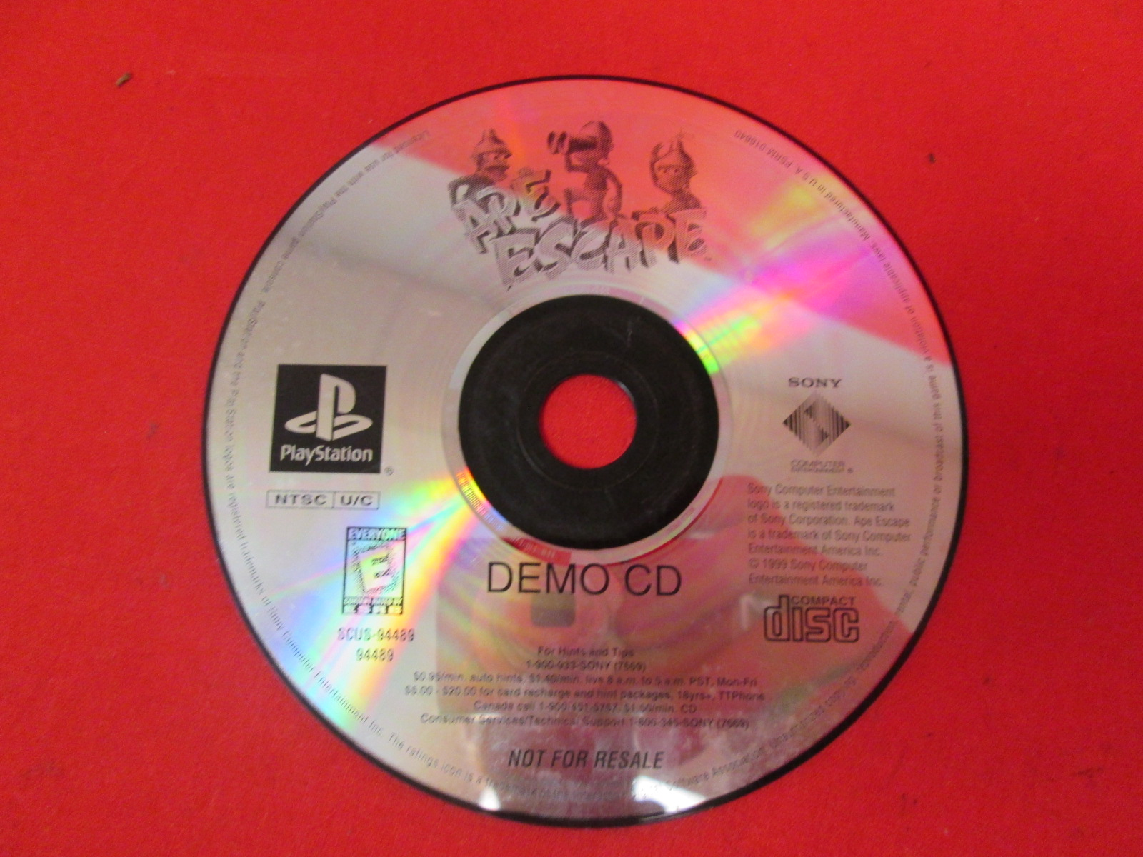 Demo CD Ape Escape For PlayStation 1