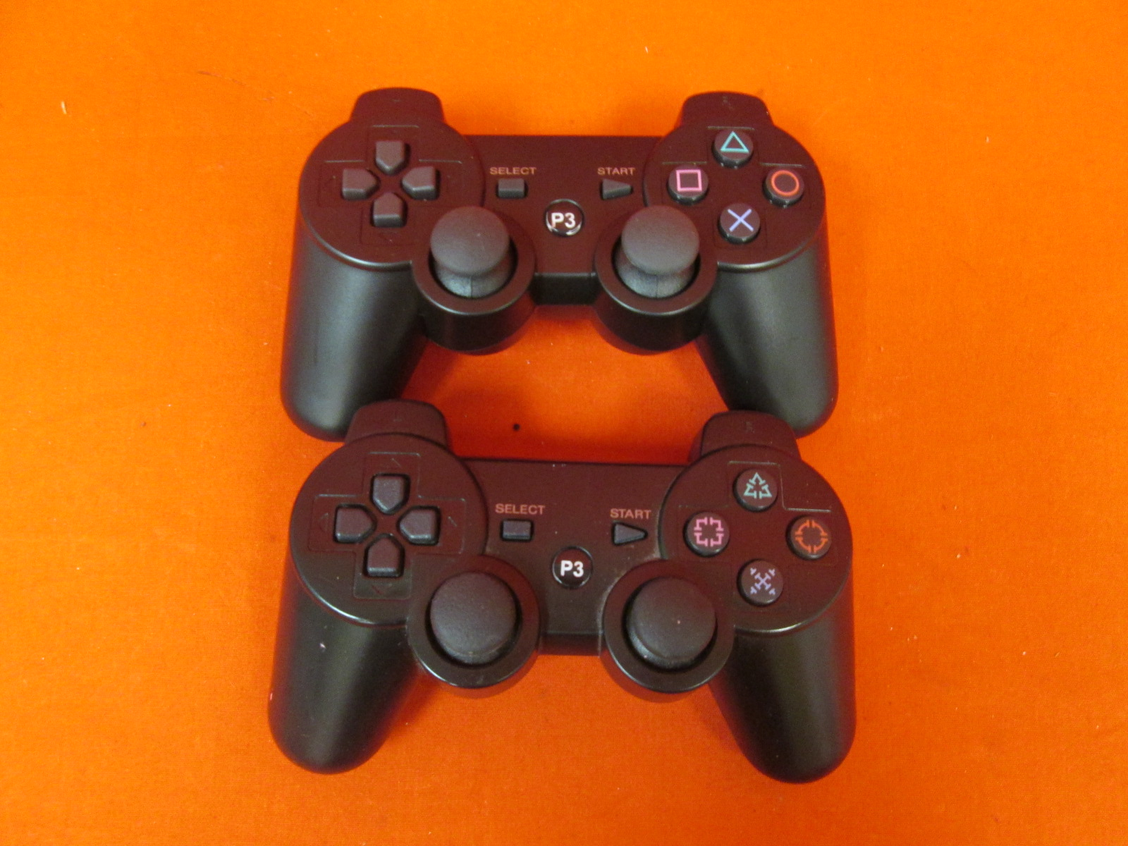 Lot Of 2 Wireless Bluetooth Controllers For PlayStation 3 PS3