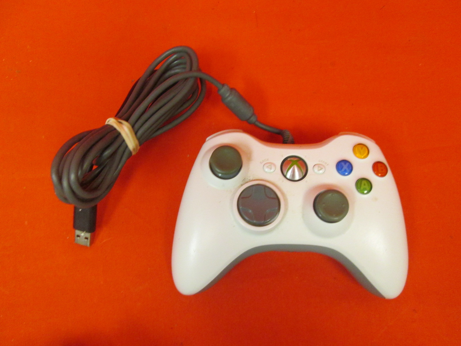 Microsoft Wired USB Controller White For Xbox 360