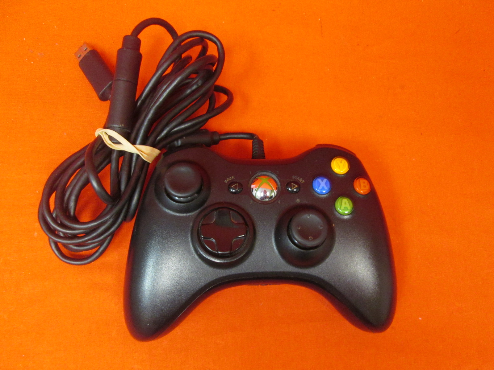 Microsoft USB Wired Controller Black For Xbox 360