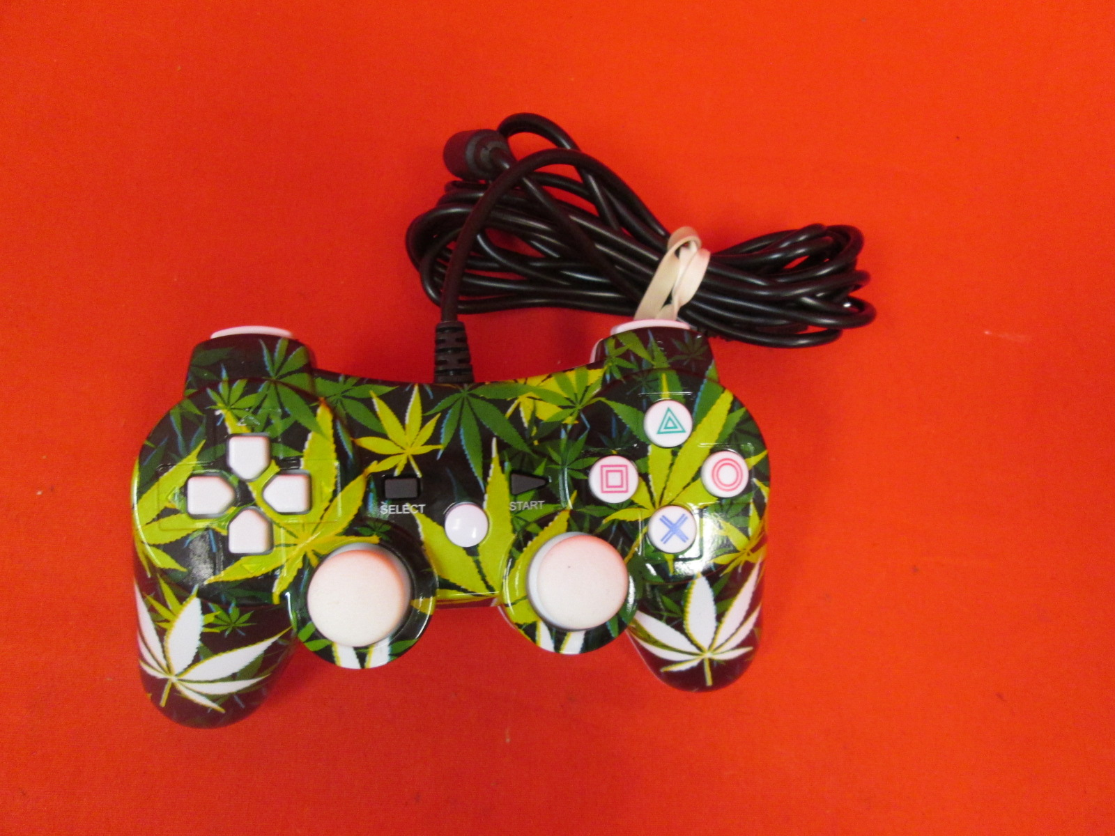 Generic Pot Leaf Wired Controller For PlayStation 3 PS3