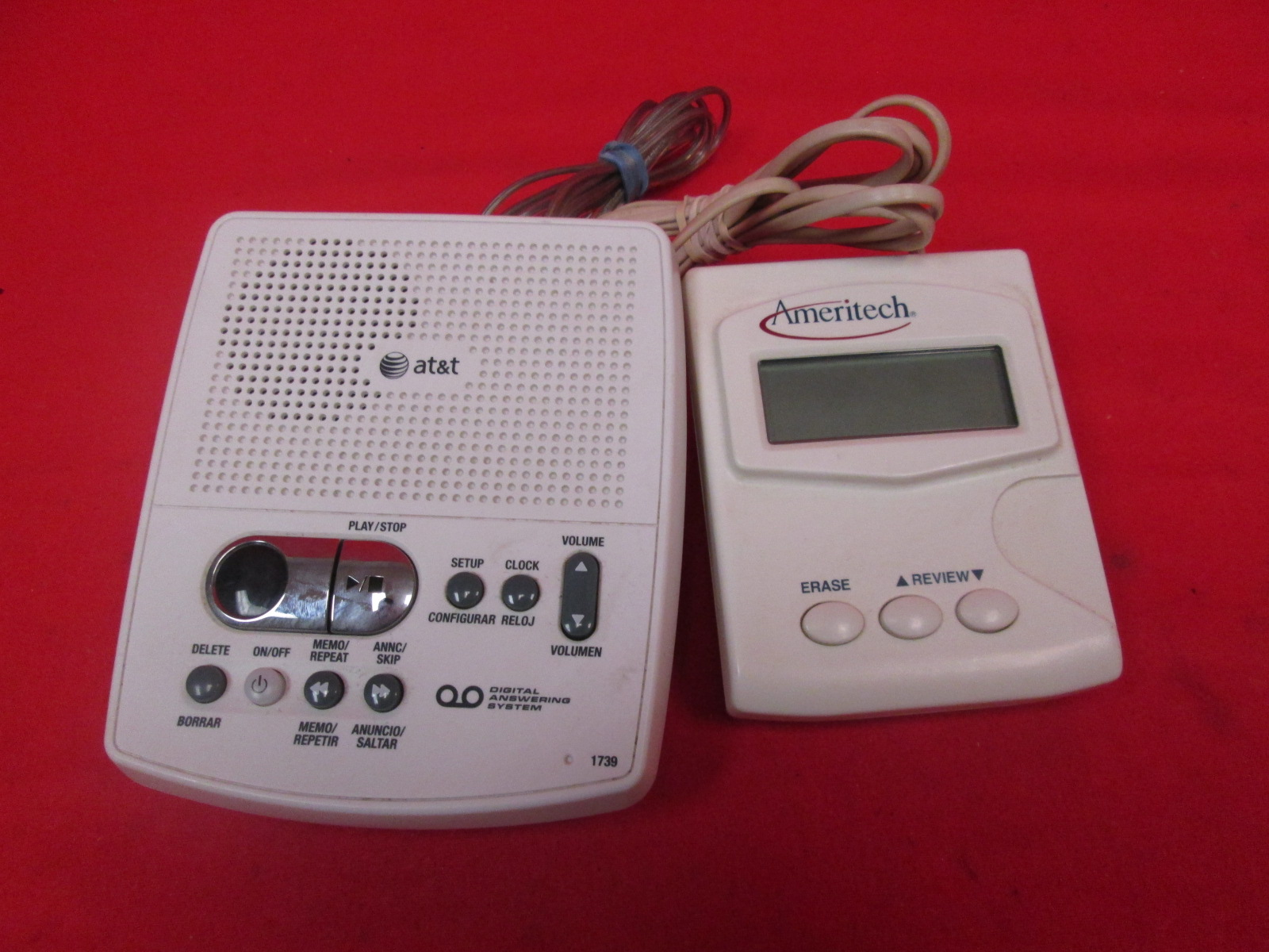 AT&T 1739 Corded Digital Answering System With Caller ID
