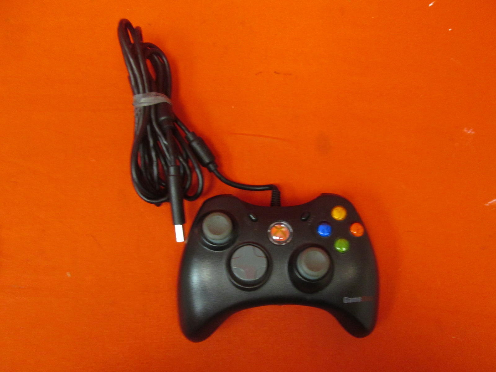 Image 0 of Gamestop Black Wired Video Game Controller For Xbox 360