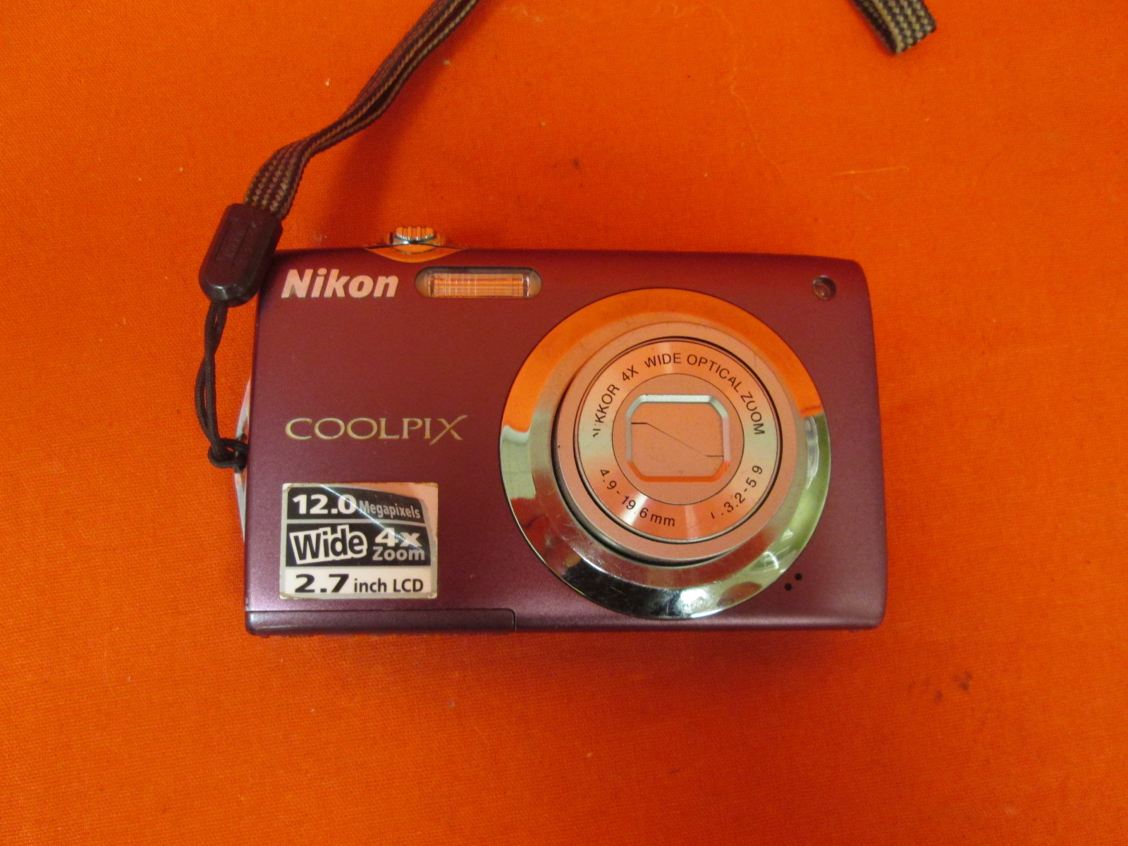 Nikon Coolpix S3000 12.0MP Digital Camera Red Incomplete