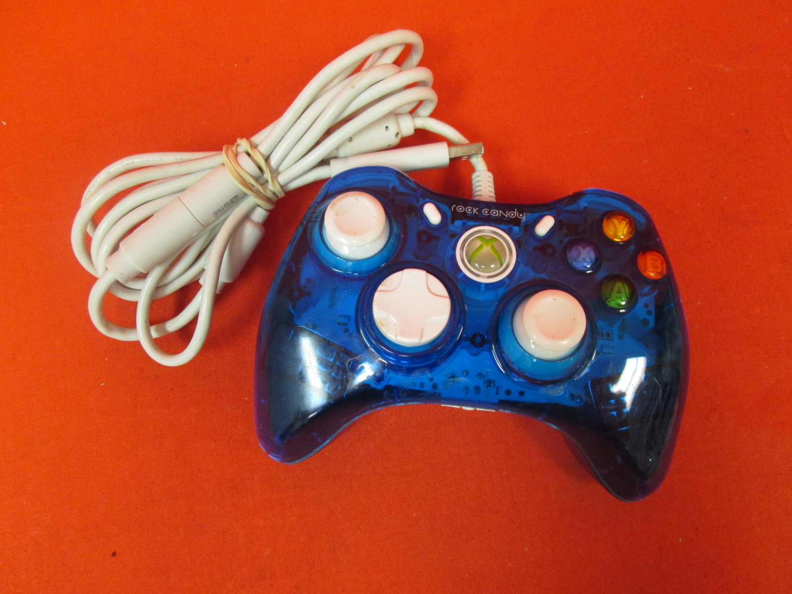 PDP Rock Candy Wired Controller For Xbox 360 Blueberry Boom