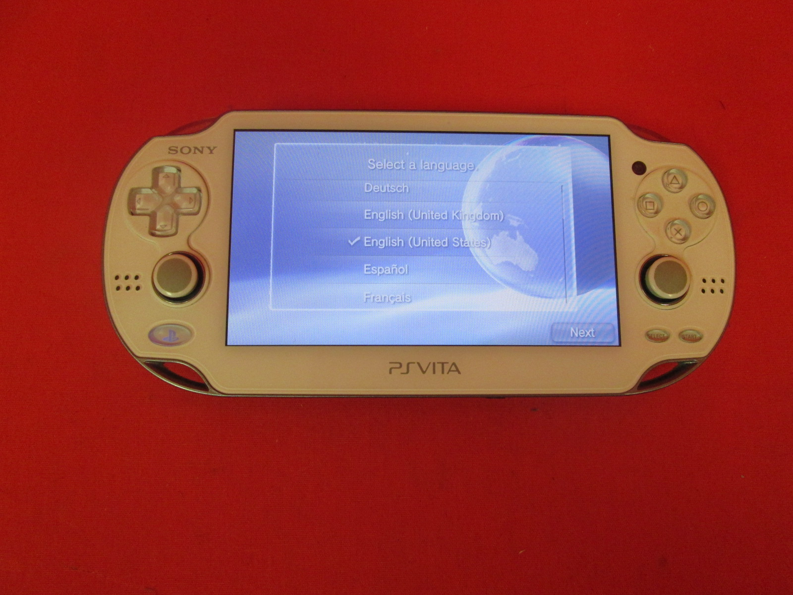 Sony PlayStation Vita Handheld Console Glacier White PCH-1001