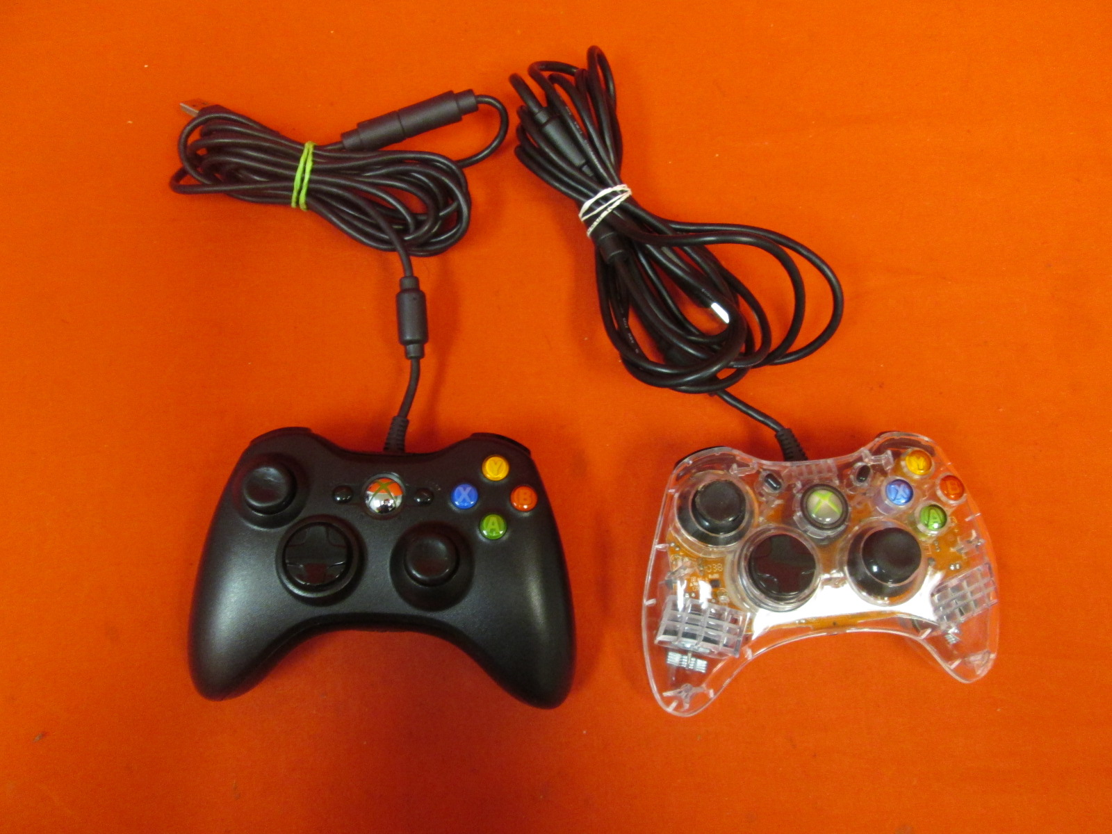 Lot Of 2 Wired Controllers For Xbox 360