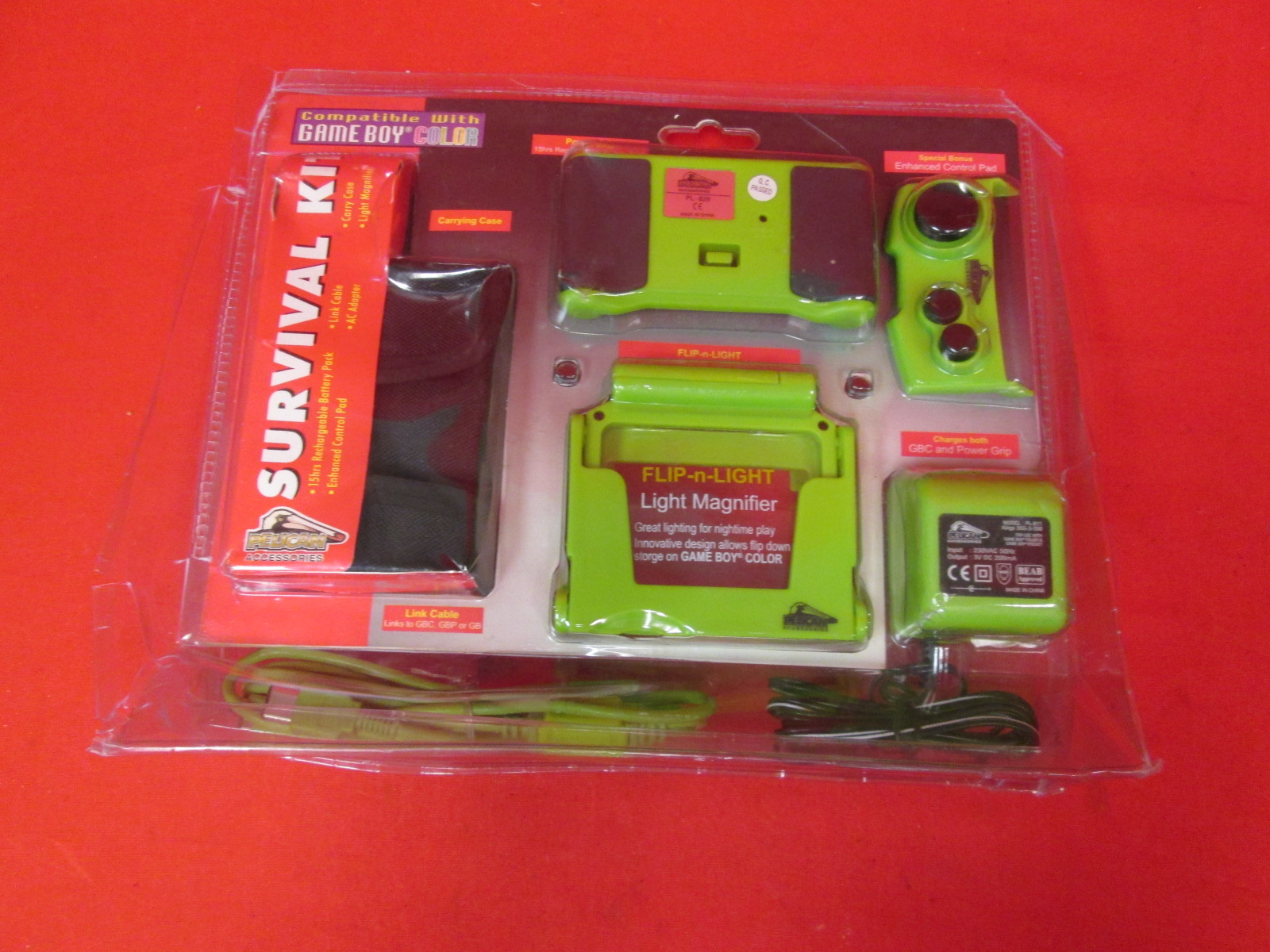 Pelican Survival Kit Green For European PAL On Gameboy Color