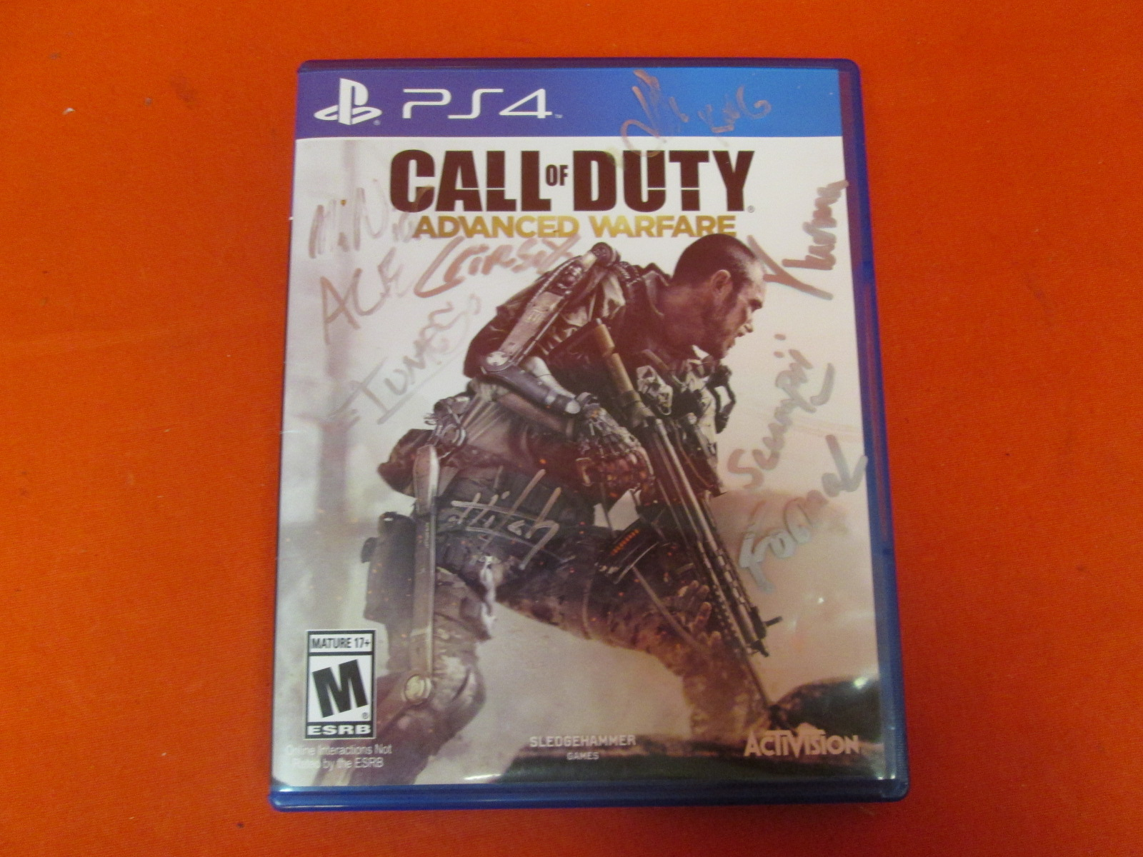 Call Of Duty: Advanced Warfare For PlayStation 4 Signed By Optic Hitch