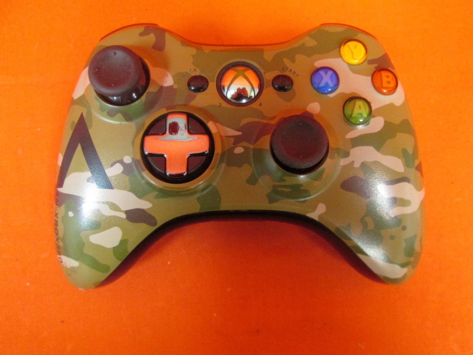 Broken Microsoft Wireless Controller Camouflage For Xbox 360