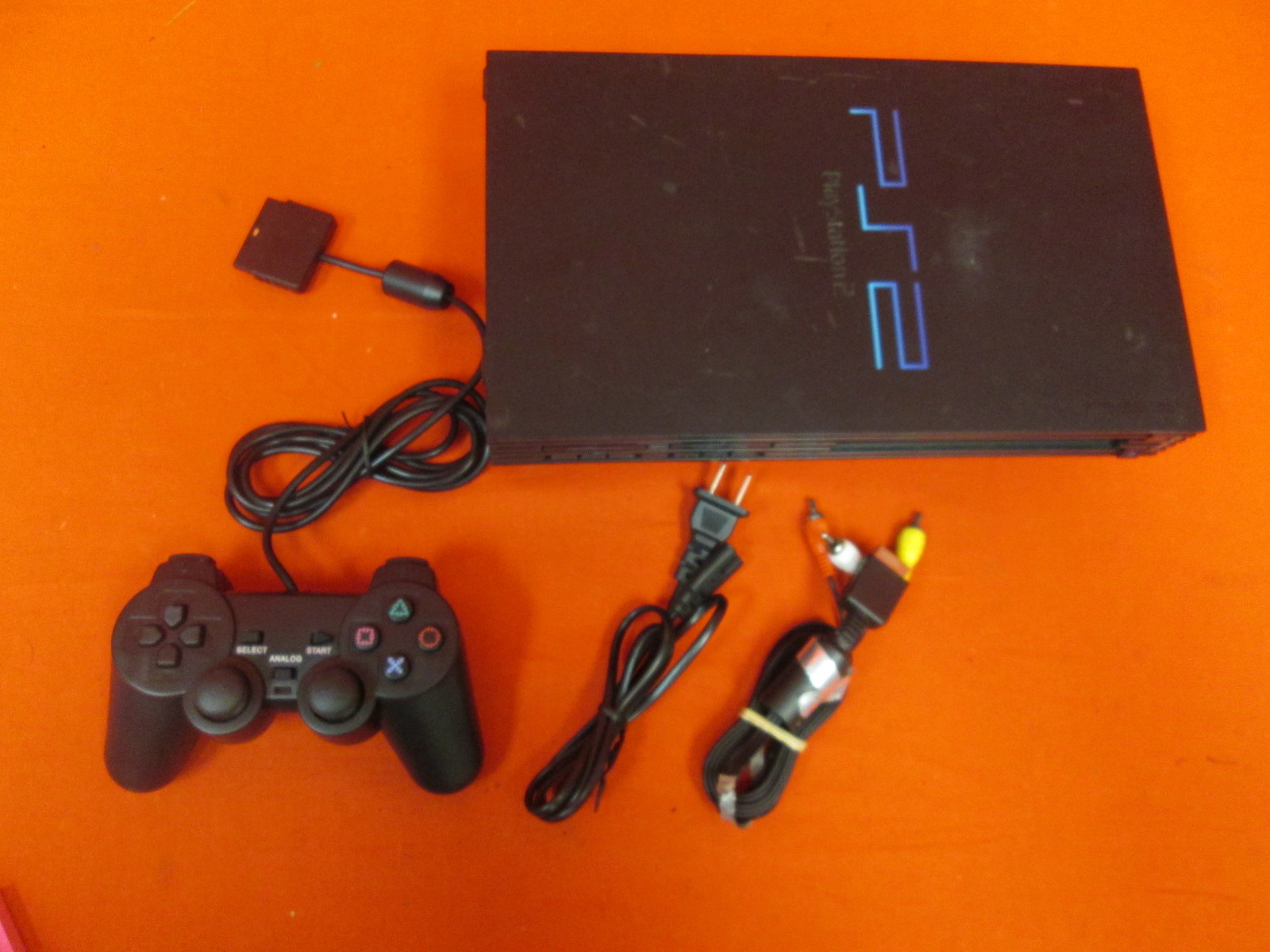Image 0 of Sony PlayStation 2 Video Game Console Black With Controller