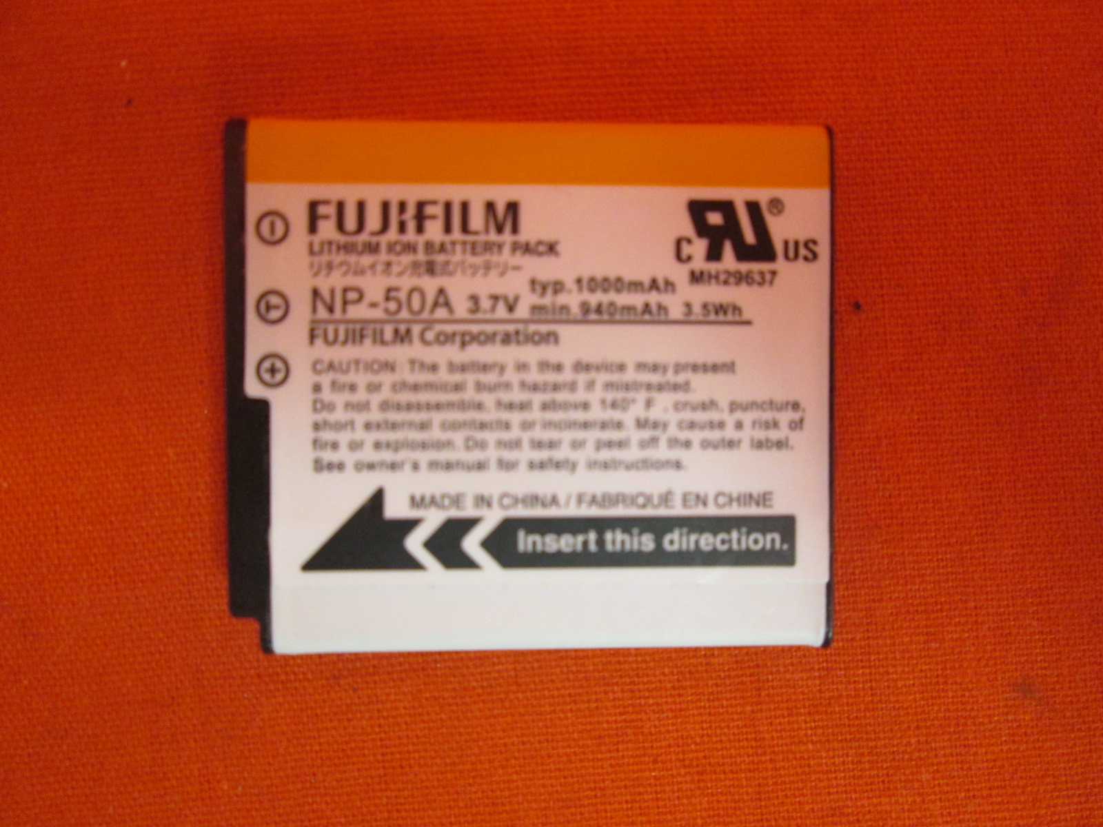 Image 0 of Original FujiFilm NP-50A Battery For NP-50 KLIC-7004 D-LI68 BC-45W