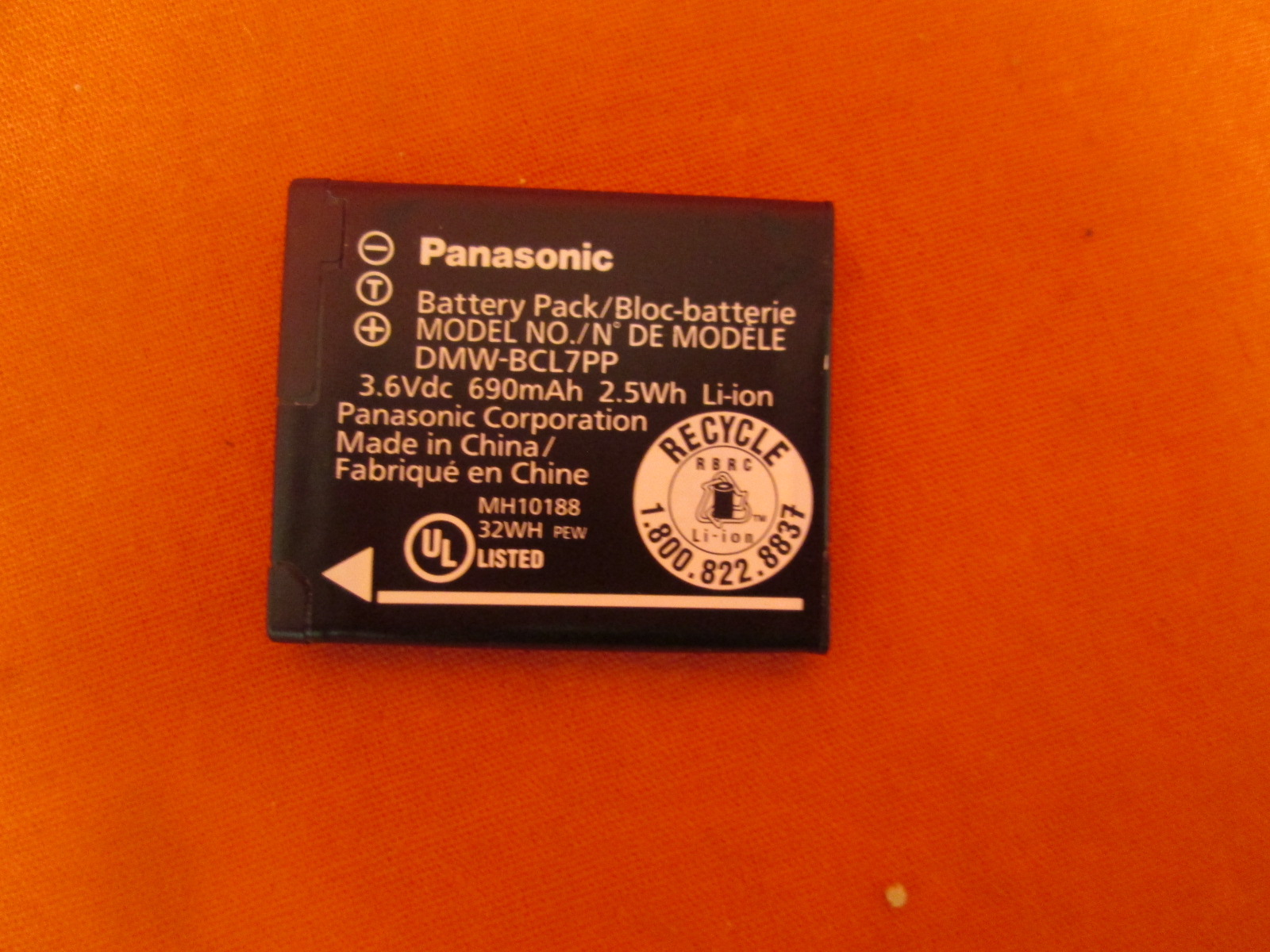 Image 0 of Panasonic DMW-BCL7 Battery For Panasonic Lumix DMC-SZ3 DMC-SZ8 DMC-SZ1