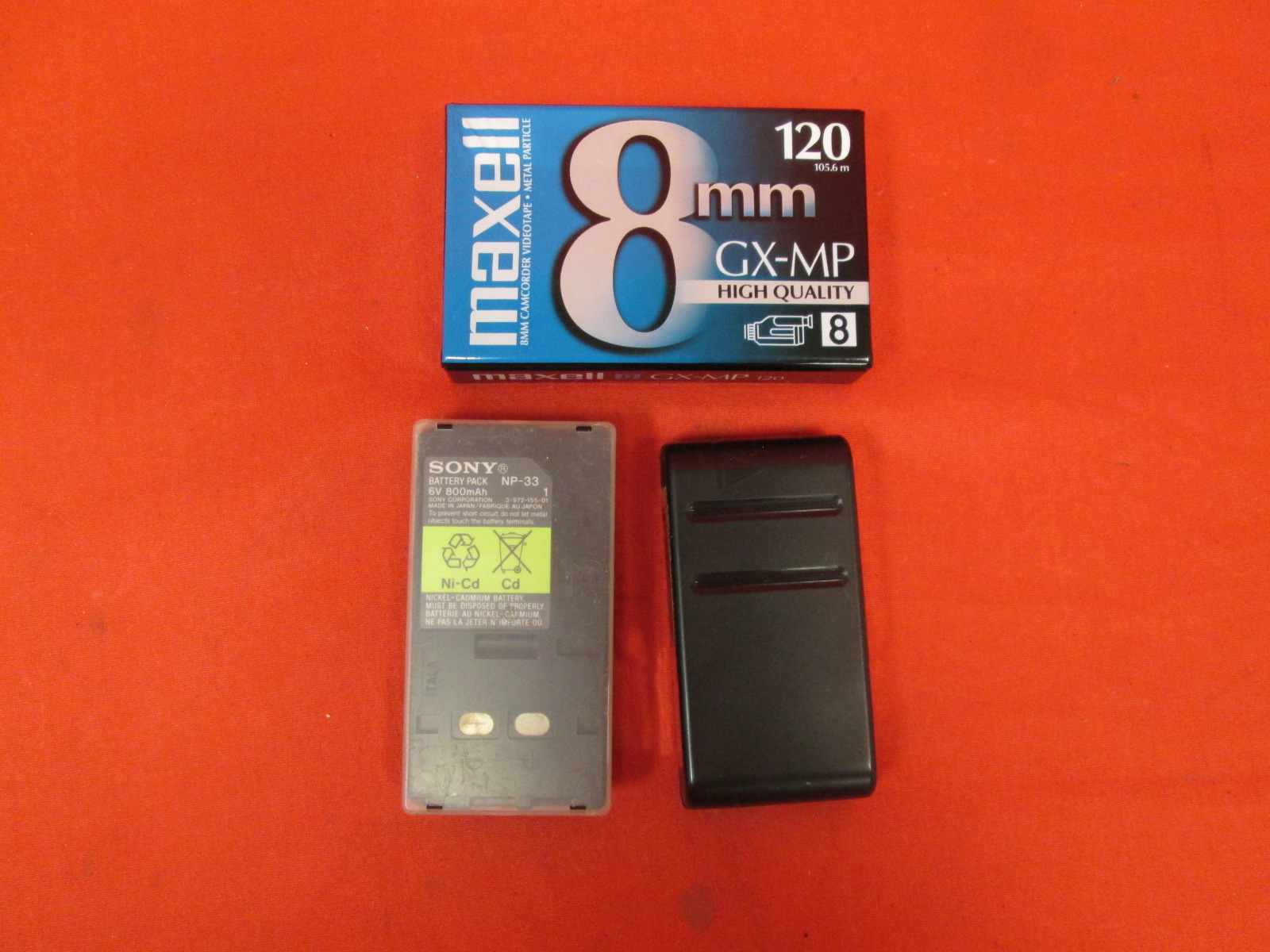 Replacement Battery Packs And Maxell Casette Cartridge For Sony NP-33