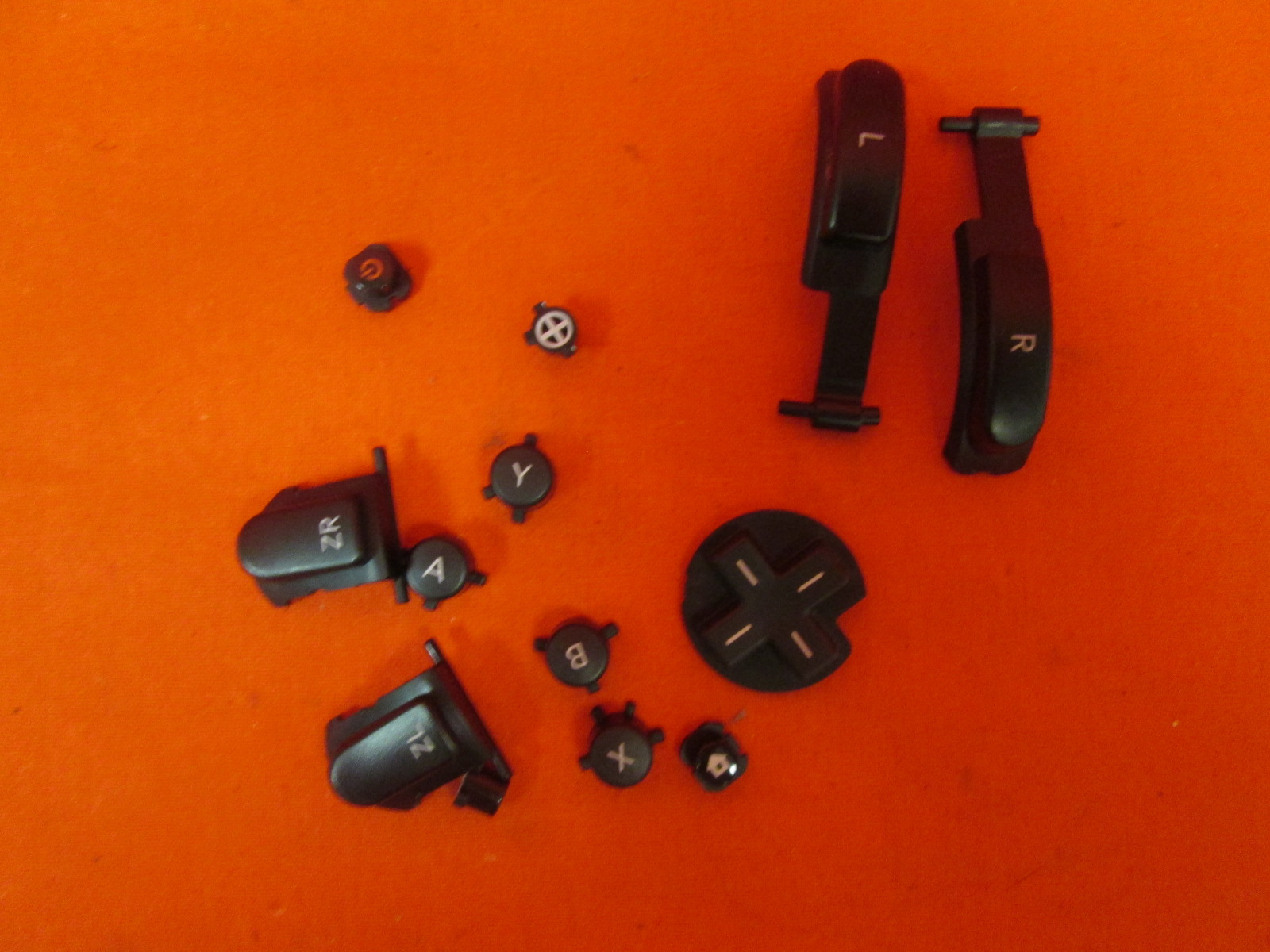 Replacement Nintendo OEM Button Set For Pro Controller Black For Wii U