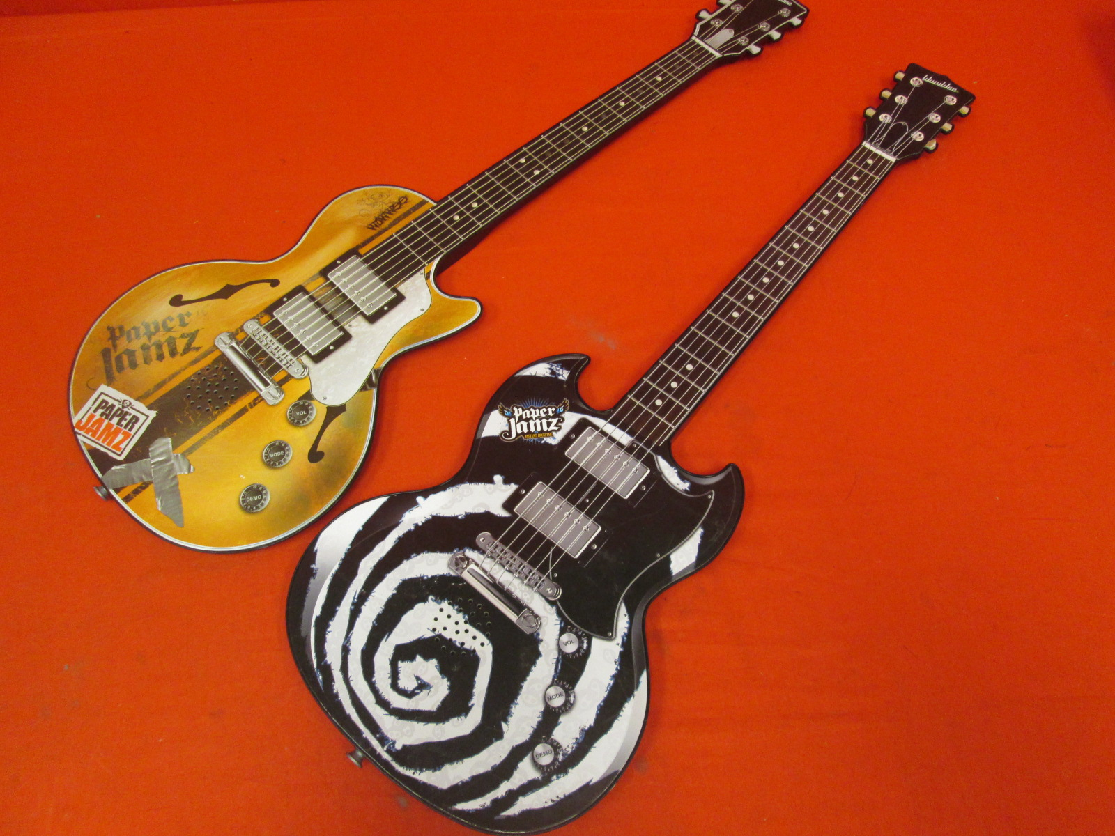 Lot Of 2 Paper Jamz Wowwee Guitars Toy