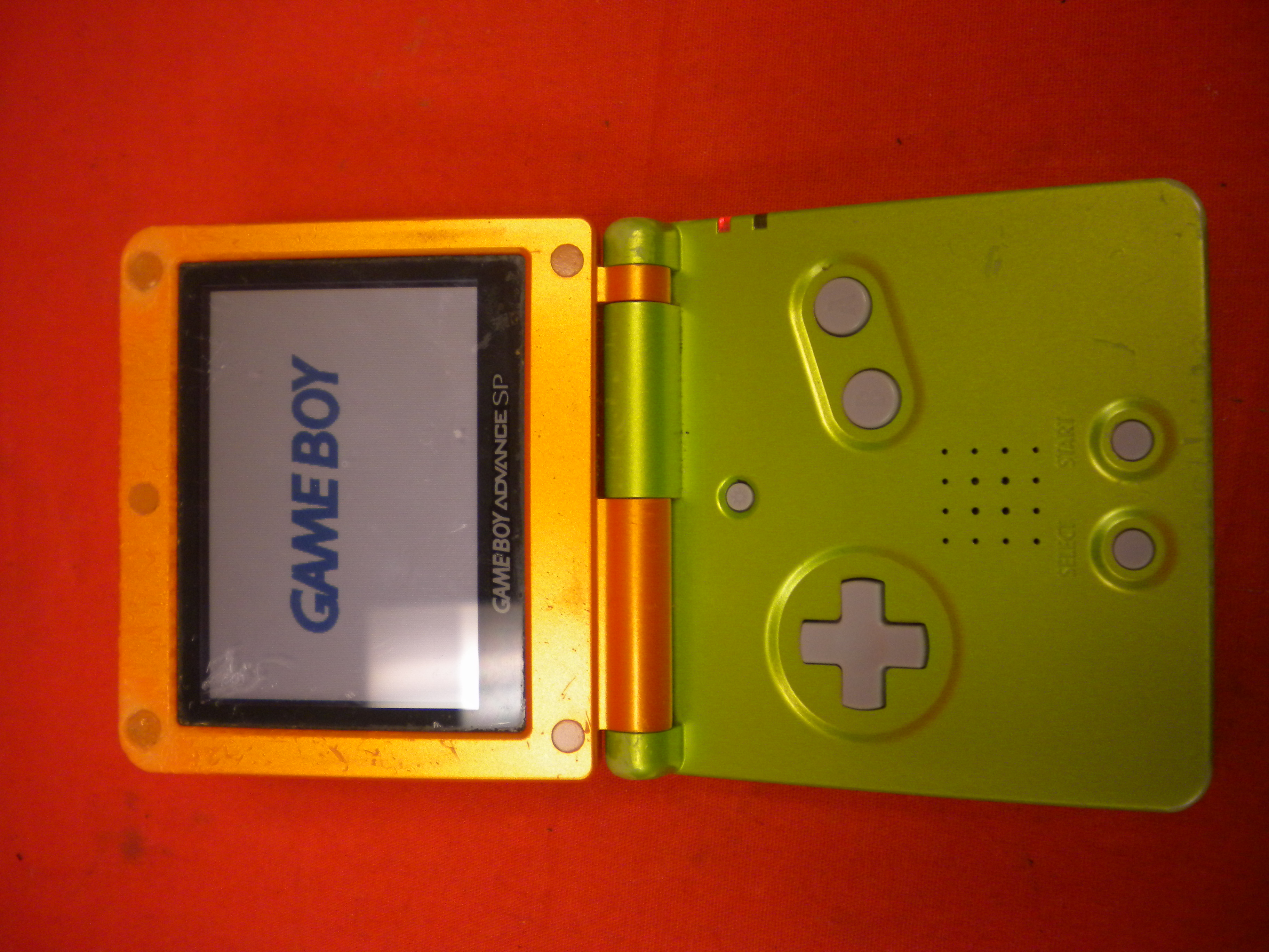 Game Boy Advance SP Limited Edition Lime/orange For GBA Gameboy