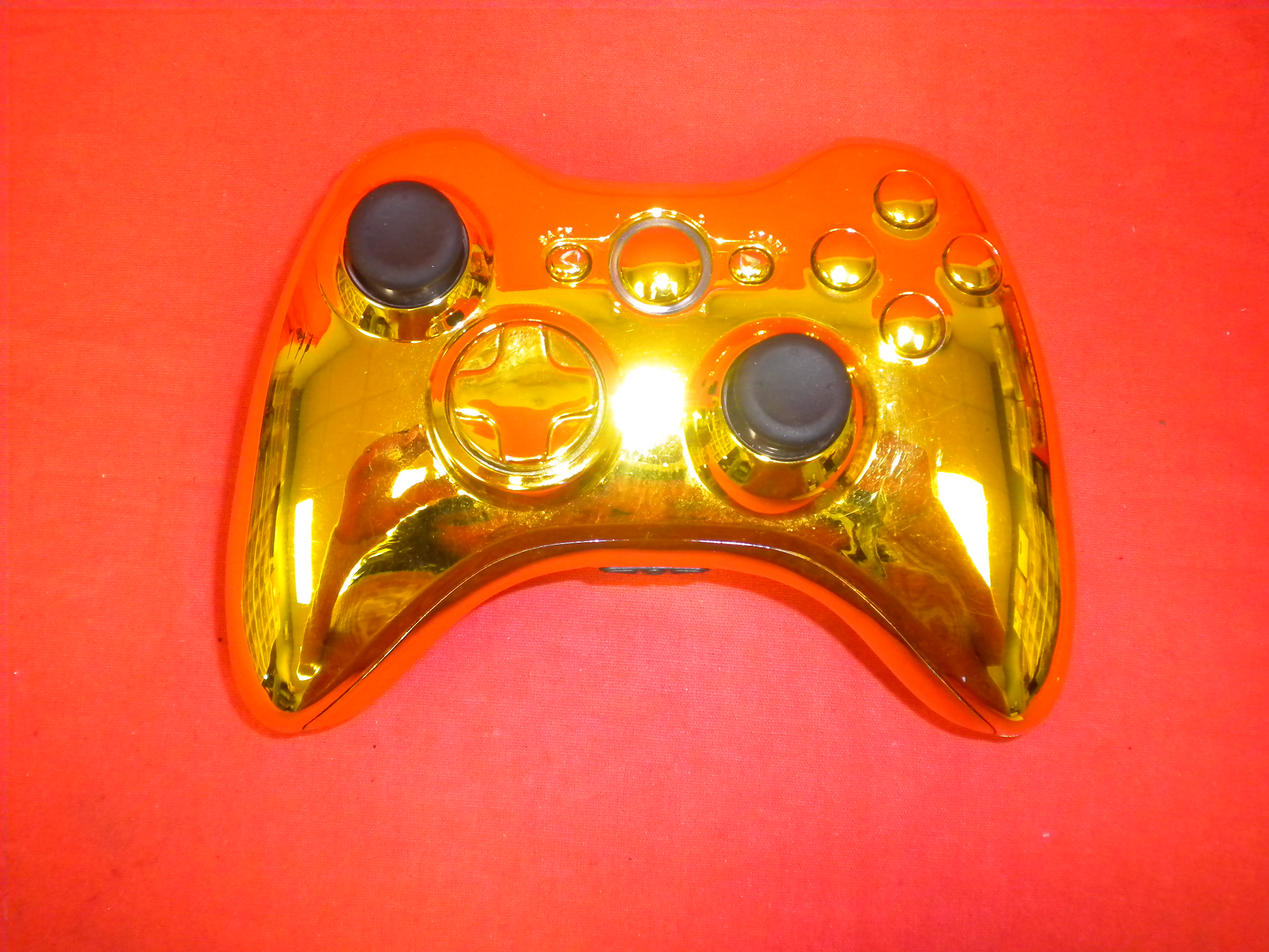 Gold Modded Controller For Xbox 360