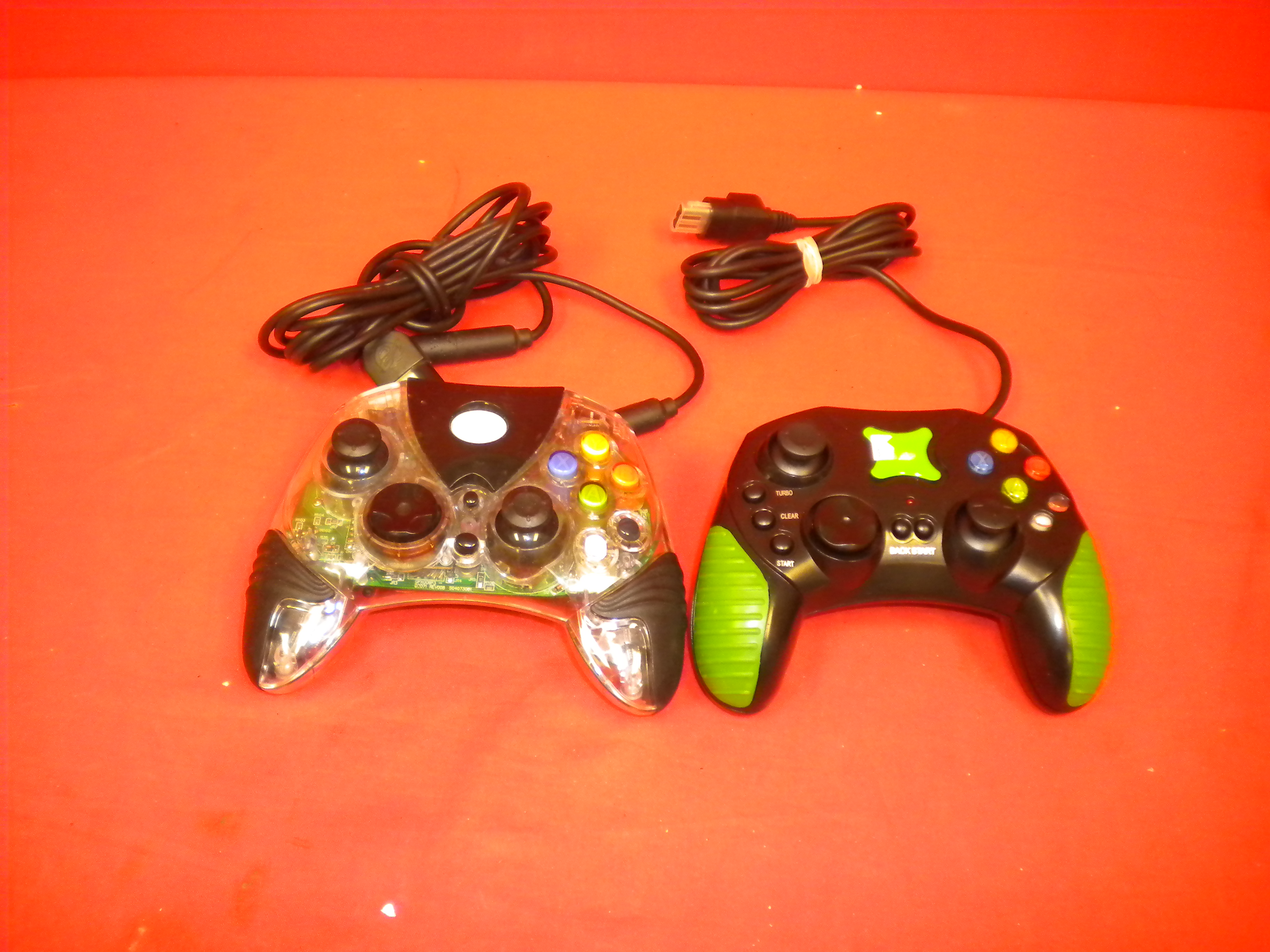 Lot Of 2 Working Generic Xbox Controllers For Xbox Original