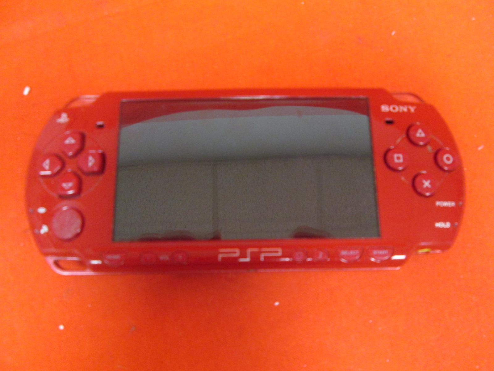 Sony PSP-2001 Black With God Of War Red Faceplate Handheld System