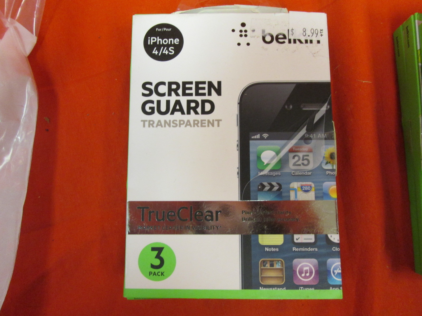 Belkin F8Z678TT3 True Clear Transparent Screen iPhone 4 And 4S Guard 3