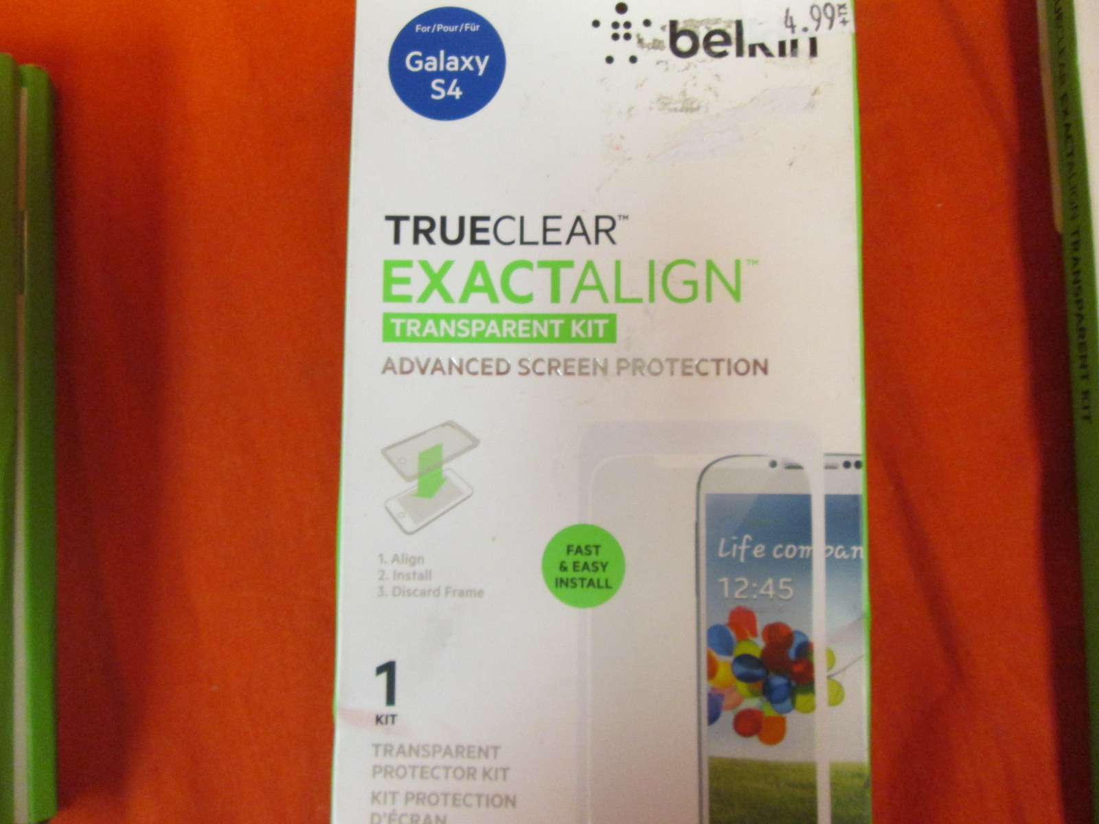 Belkin 0914BF Galaxy S4 True Clear Exactalign Screen Protector