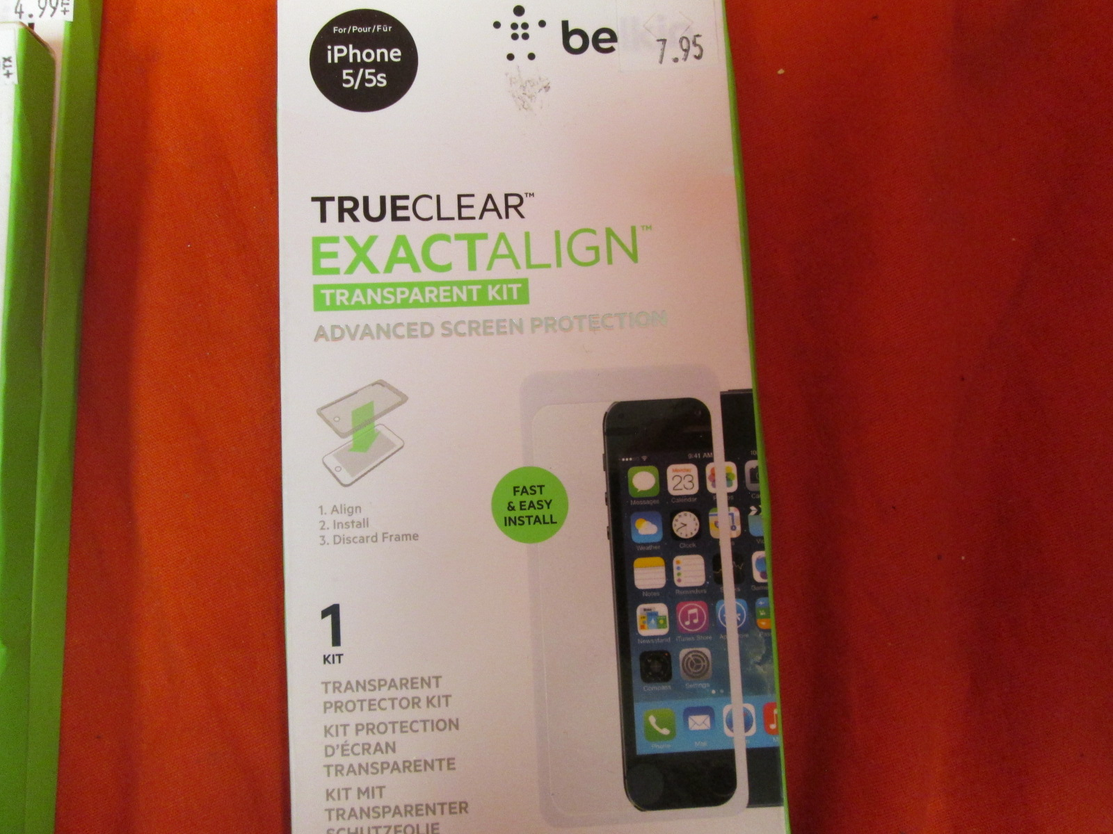 Belkin 0914BF iPhone 5 And 5S True Clear Exactalign Screen Protector