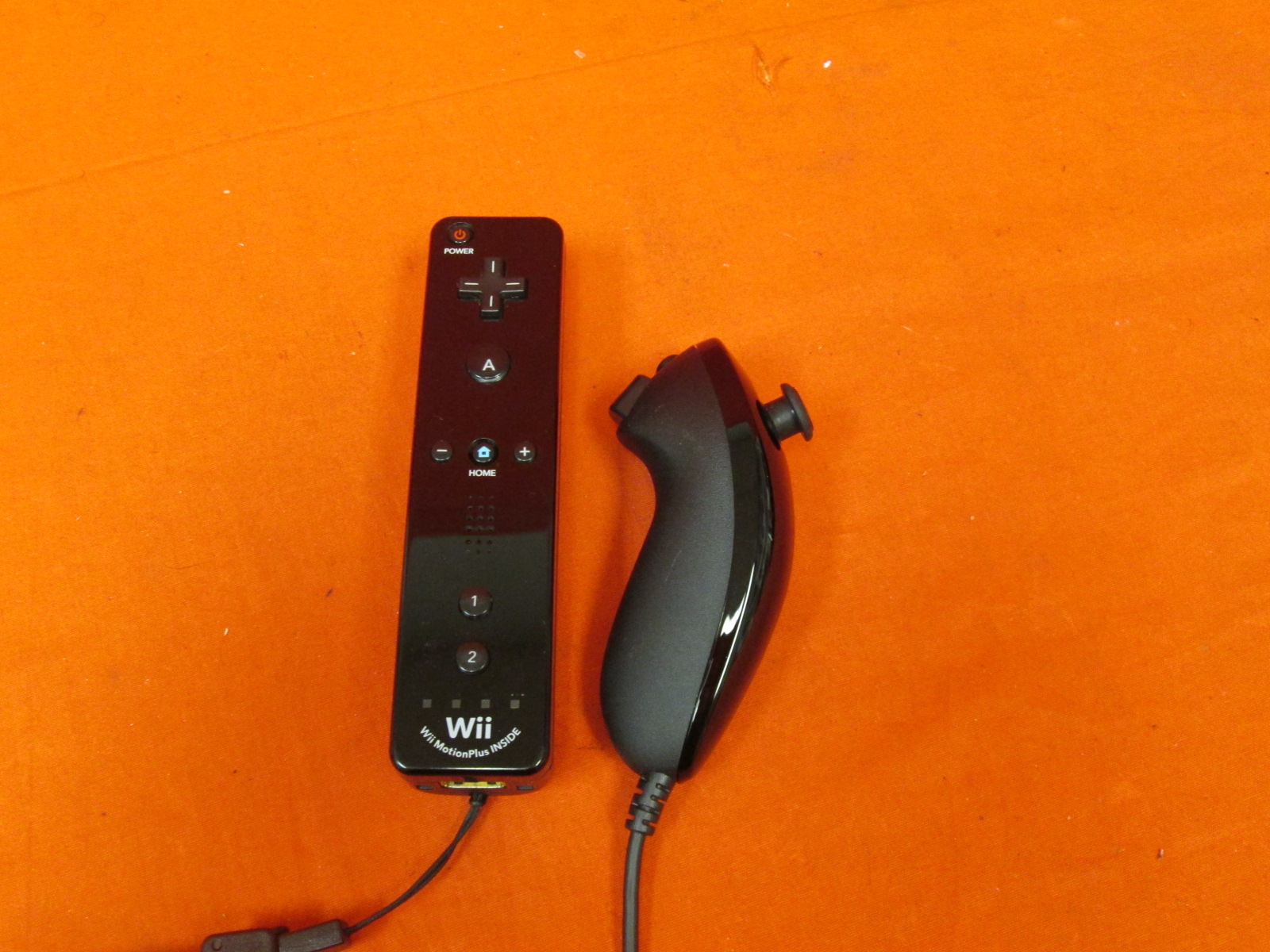 Motion Plus Remote And Nunchuck Controller For &Wii U-Black For Wii