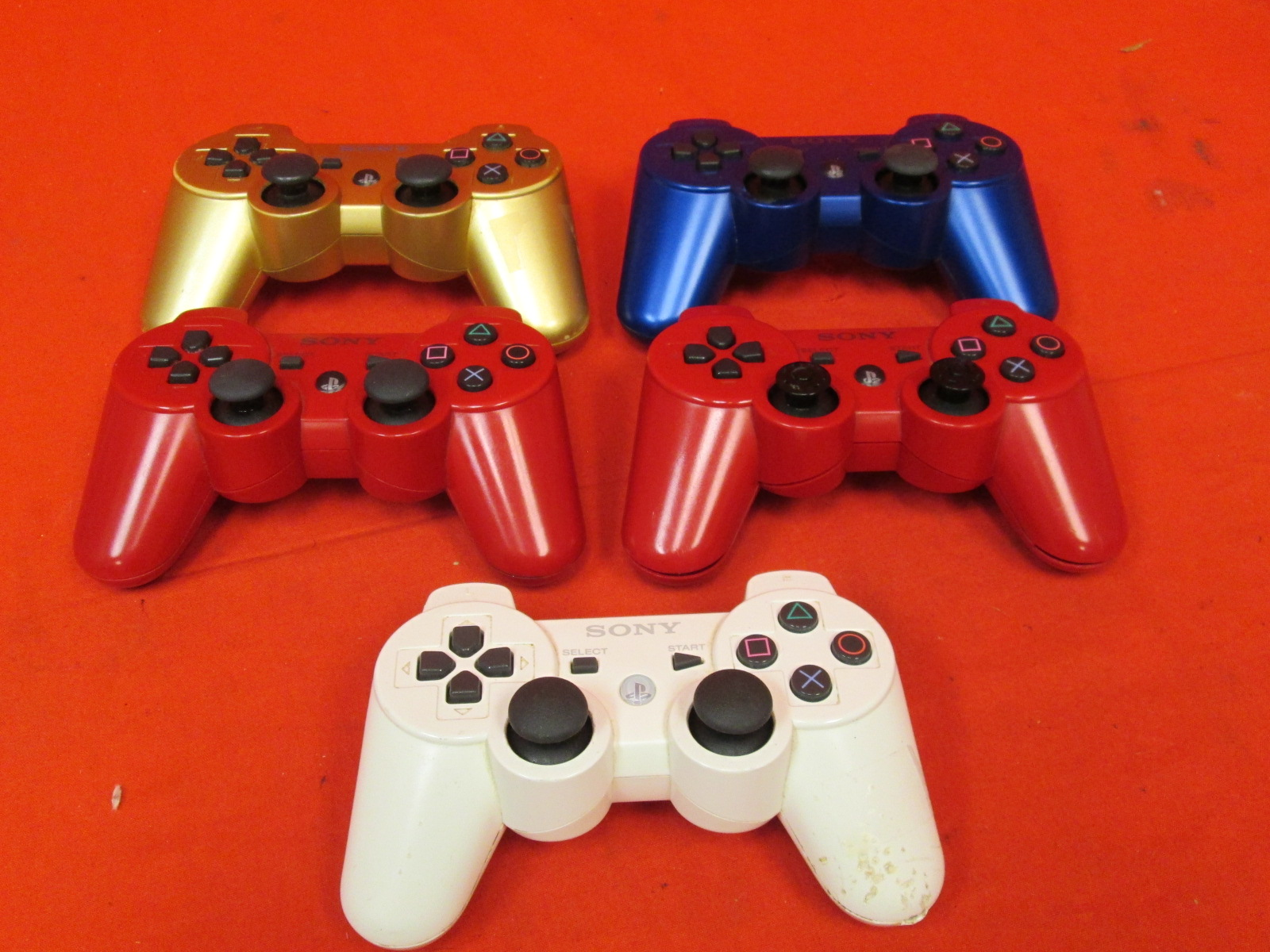 Broken Lot Of 5 Genuine Wireless Controllers For PlayStation 3