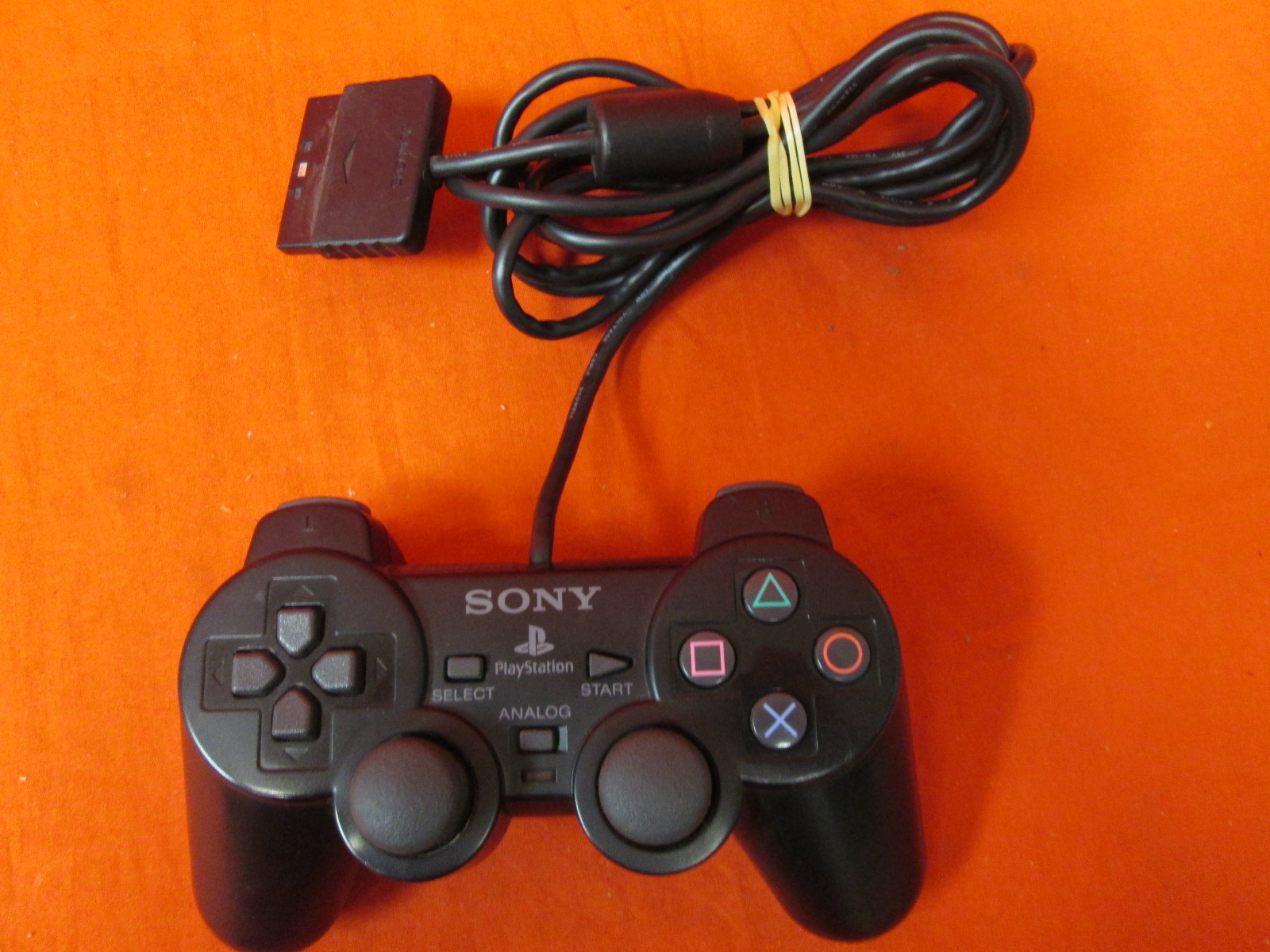 Broken Dual Shock Controller Black For PlayStation 2