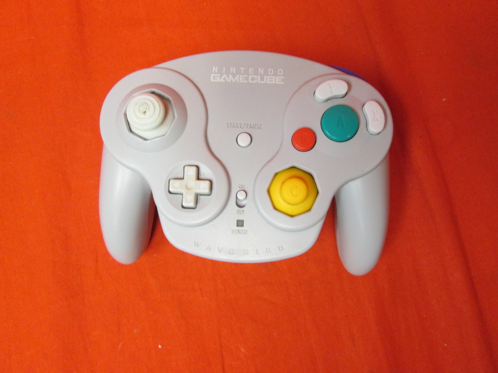 Wavebird Wireless Controller Grey Compatible With Wii For GameCube