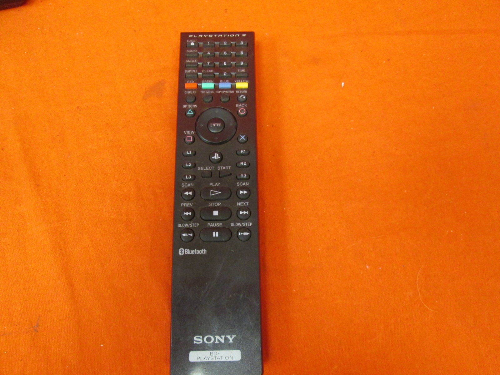 Broken Sony Blu-Ray Disc Remote For PlayStation 3