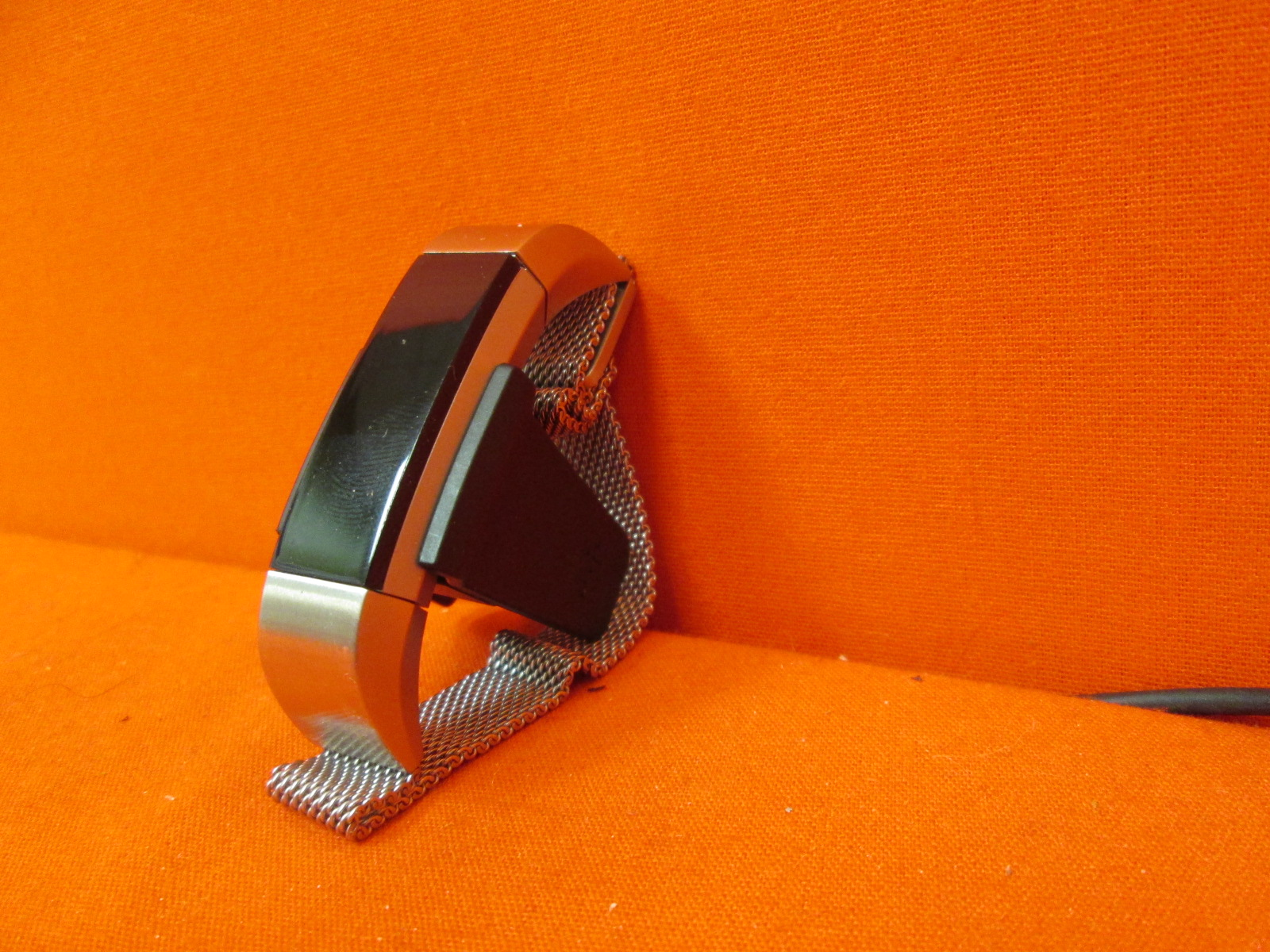 Image 1 of Fitbit Alta Fitness Tracker Silver/black Small With Silver Accessory