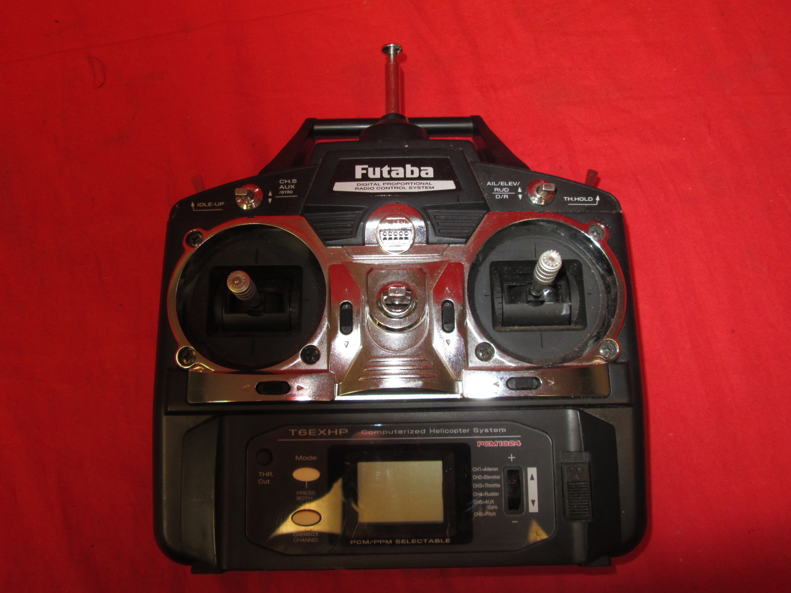 Futaba T6EXHP 6 Channel Computerized Helicopter Remote 72.910 MHz