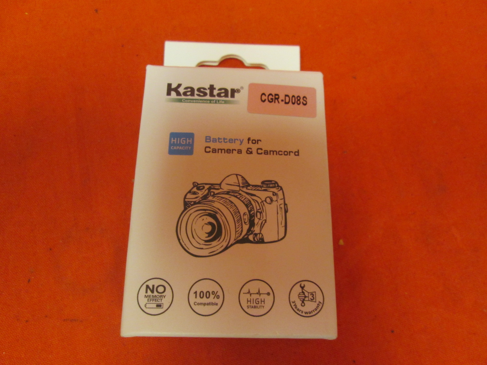 Kastar Battery 1 Pack For Panasonic CGR-D08 D08S