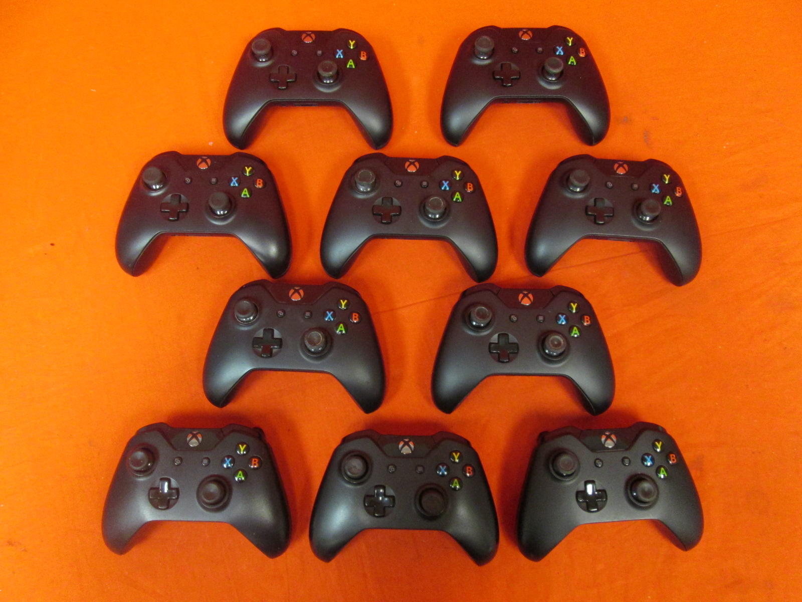 Lot Of 10 Xbox Wireless Controller Black With Headphone Jack For Xbox